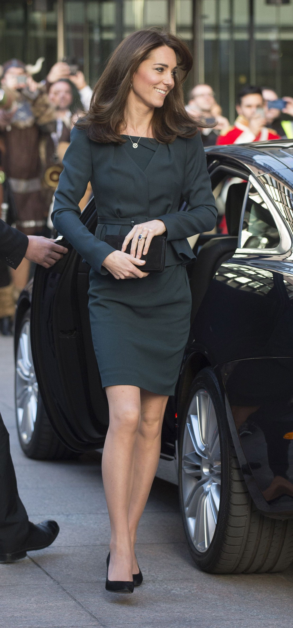 Catherine Duchess of Cambridge arrives at                                   ICAP's 23rd Annual Charity Day in London on Dec. 9, 2015.