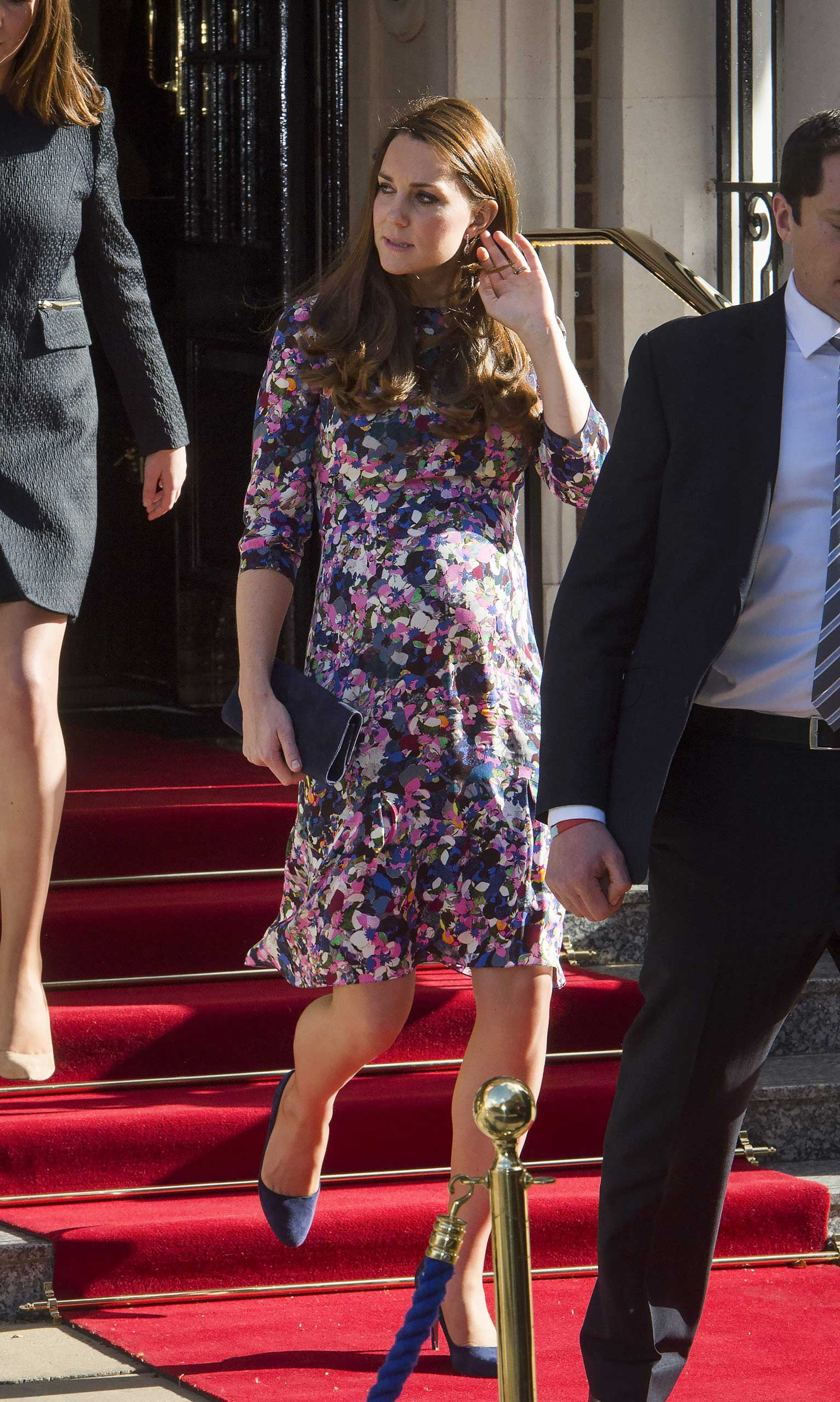 Catherine Duchess of Cambridge leaves The Goring Hotel in Victoria, London on March 2, 2015.