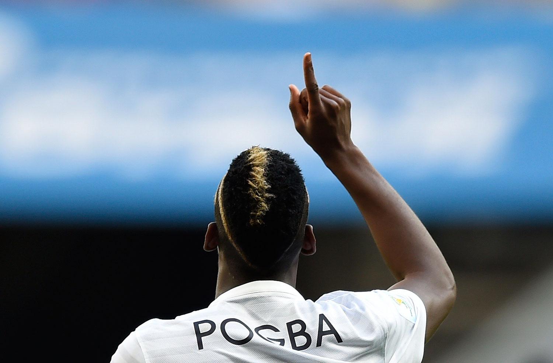 France vs. Nigeria 2-0                                                              France's midfielder Paul Pogba celebrates after scoring the first goal at The Mane Garrincha National Stadium in Brasilia, Brazil on June 30, 2014.