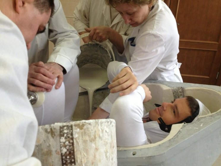 One of perhaps a dozen truly defining moments on the road to launching-today my seat liner for the Soyuz was cast