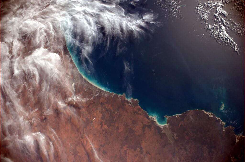 Australia's north shore as seen from the International Space Station.