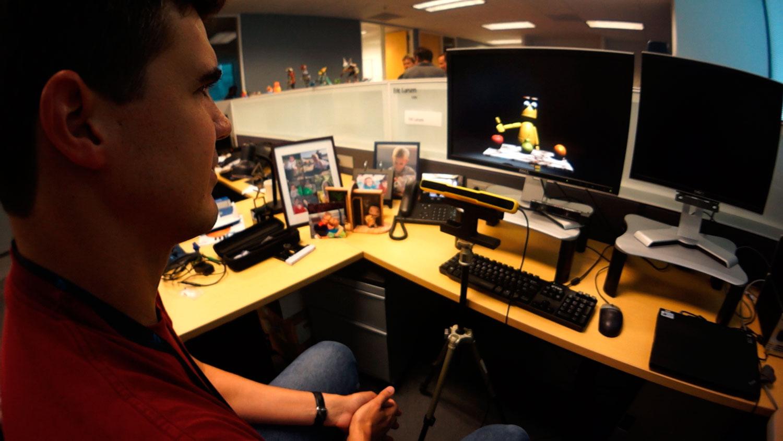 EYE TRACKING: Magic Lab Member Eric Larsen tests out their Eye tracking software technology.
