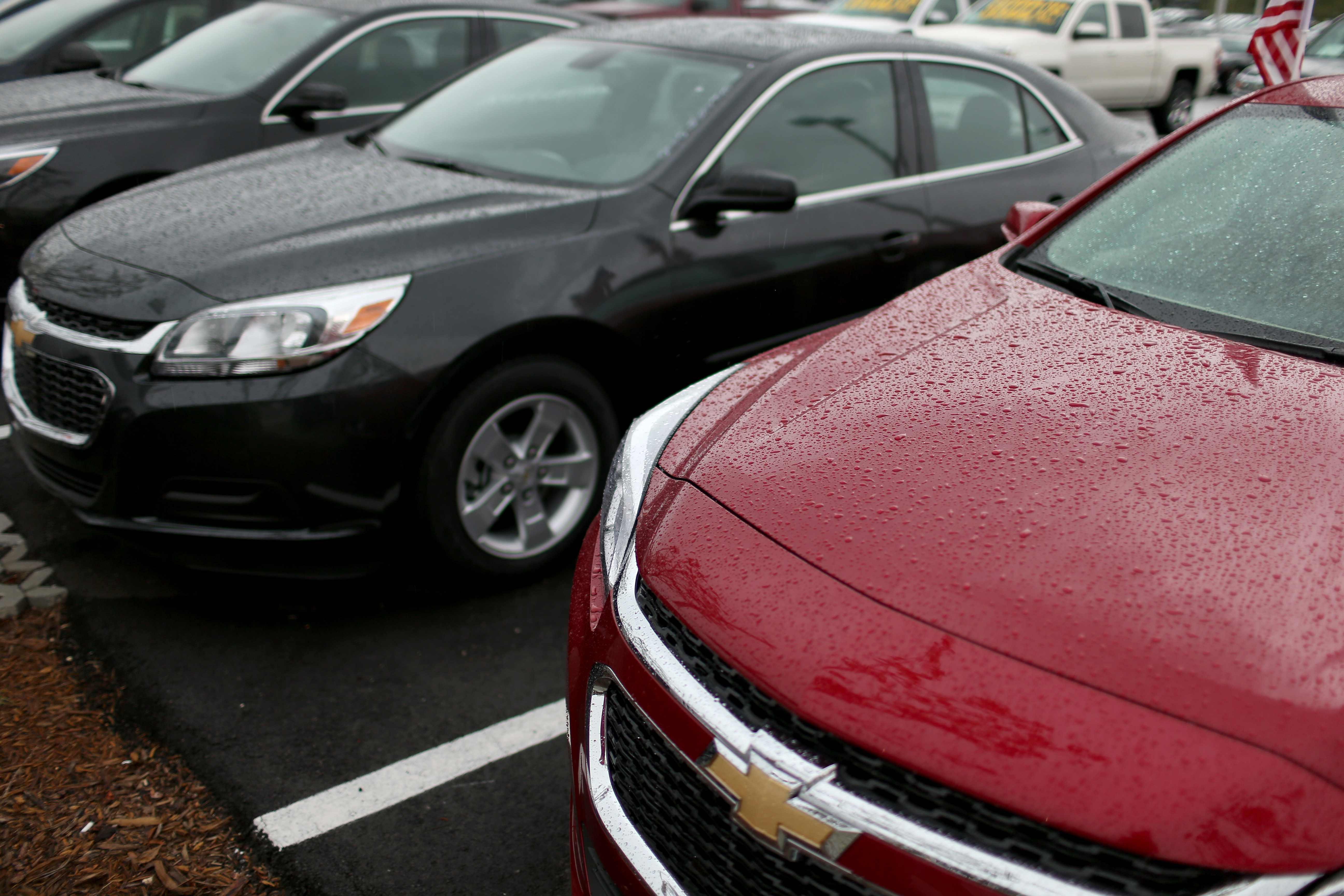 General Motors Chevrolet vehicles are seen on a sales lot on June 30, 2014 in Miami, Florida.