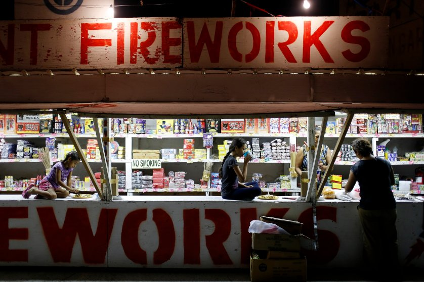 Fireworks Sellers Immigration 4th of July