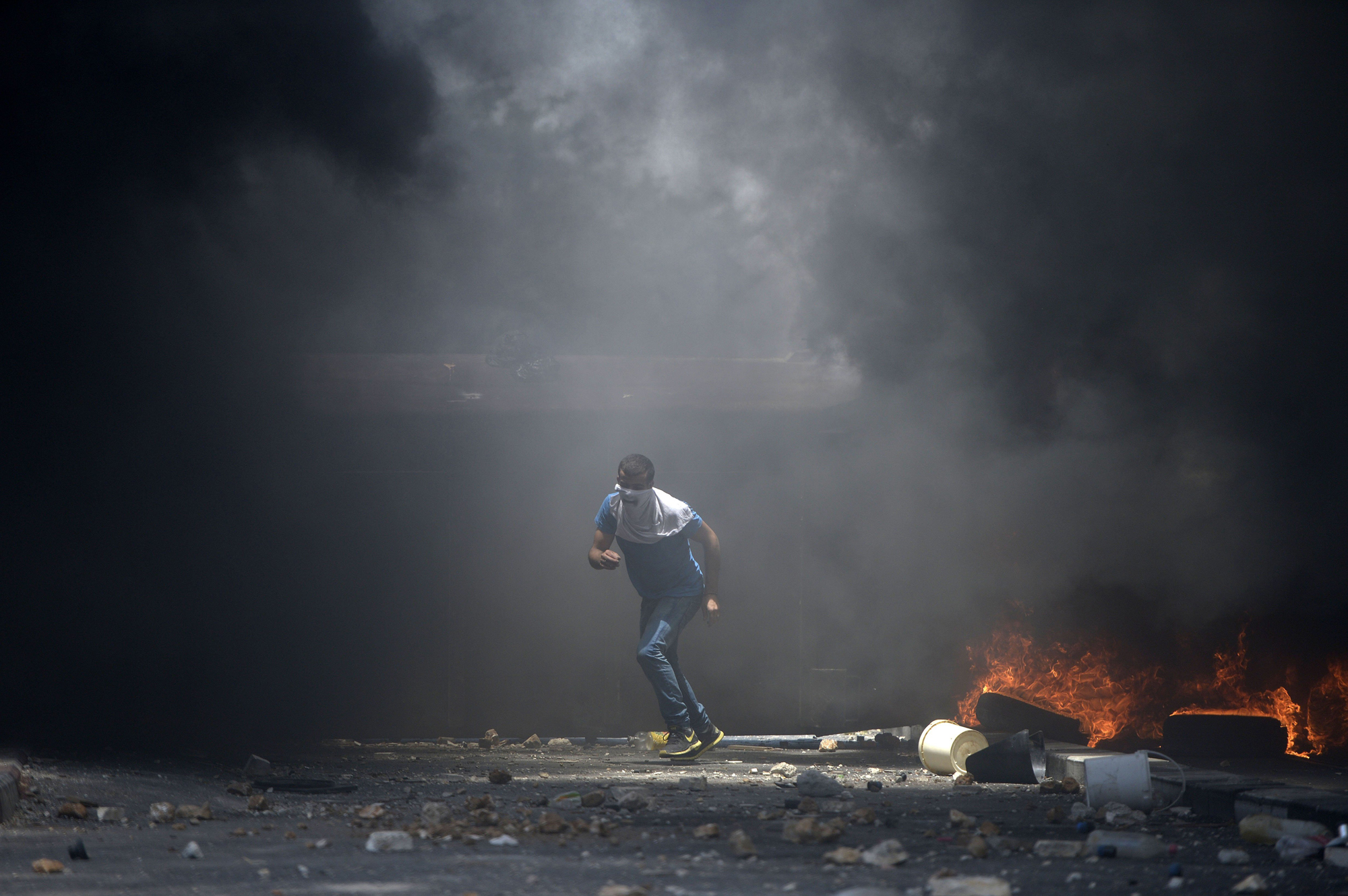 Clashes in the Shuafat suburb of Jerusalem, July 2.