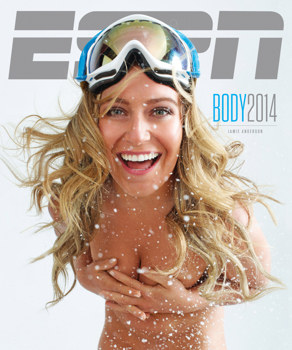 Jamie Anderson on the cover of ESPN the Magazine's 2014 Body Issue