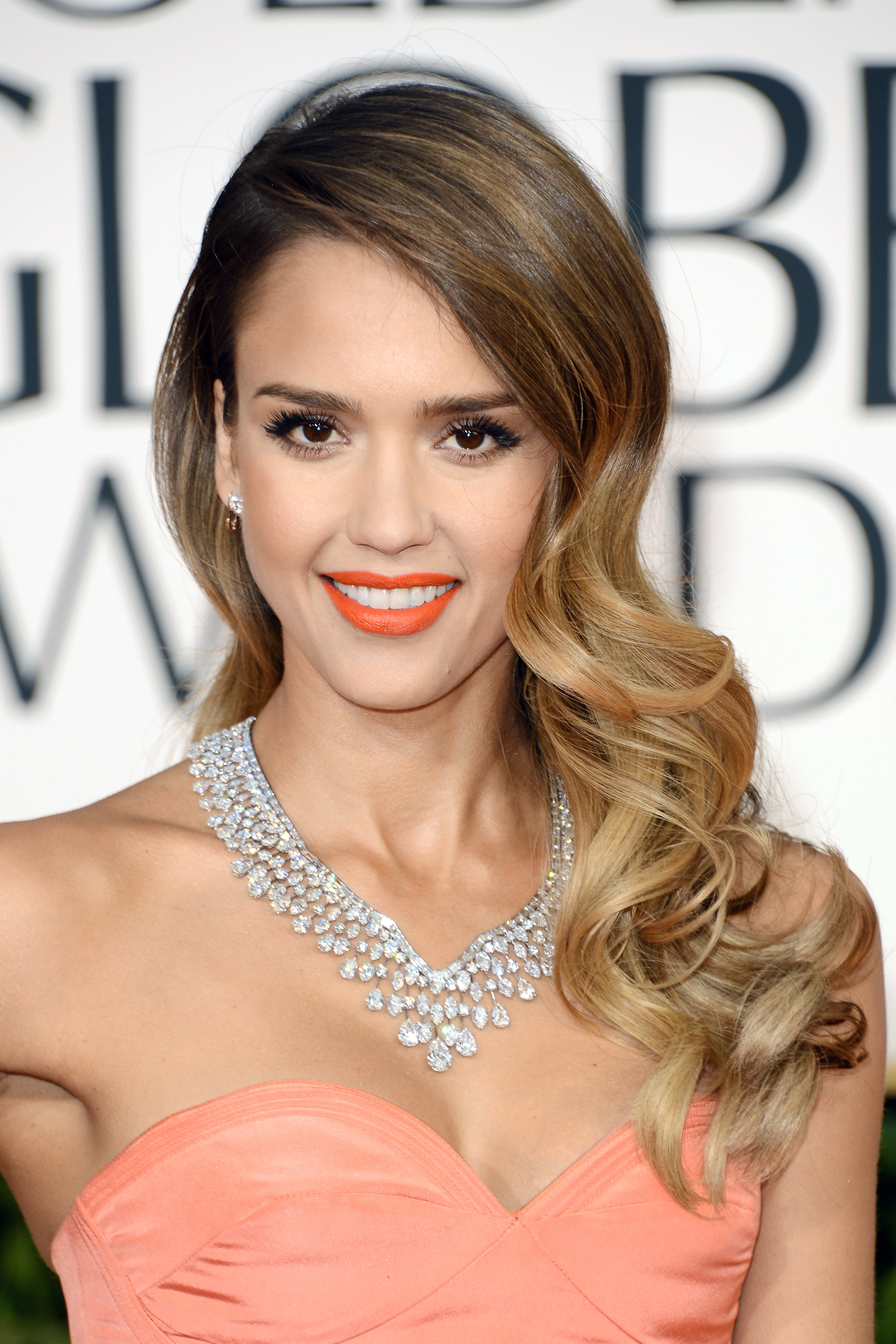 Actress Jessica Alba at the 70th Annual Golden Globe Awards on January 13, 2013 in Beverly Hills, California.