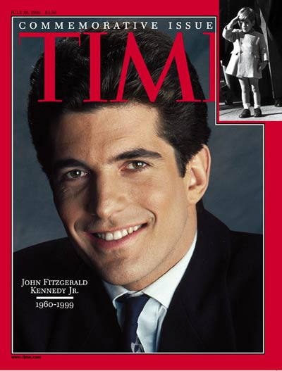 The cover of TIME's July 26, 1999 issue:  John Fitzgerald Kennedy Jr. 1960-1999