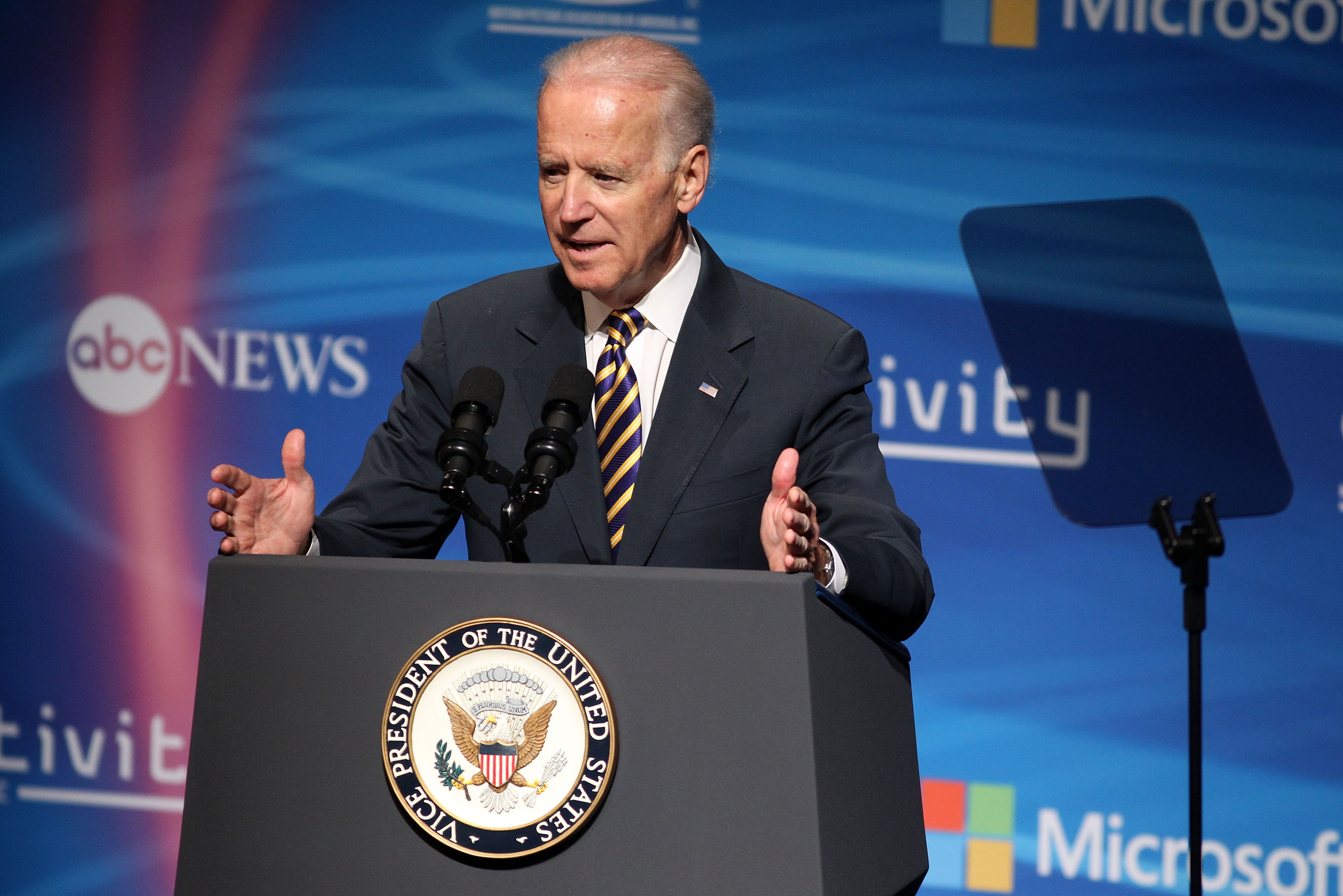 U.S. Vice President Joseph Biden discusses  international intellectual property protections at the 2nd Annual Creativity Conference presented by the Motion Picture Association of America at The Newseum on May 2, 2014 in Washington, D.C.
