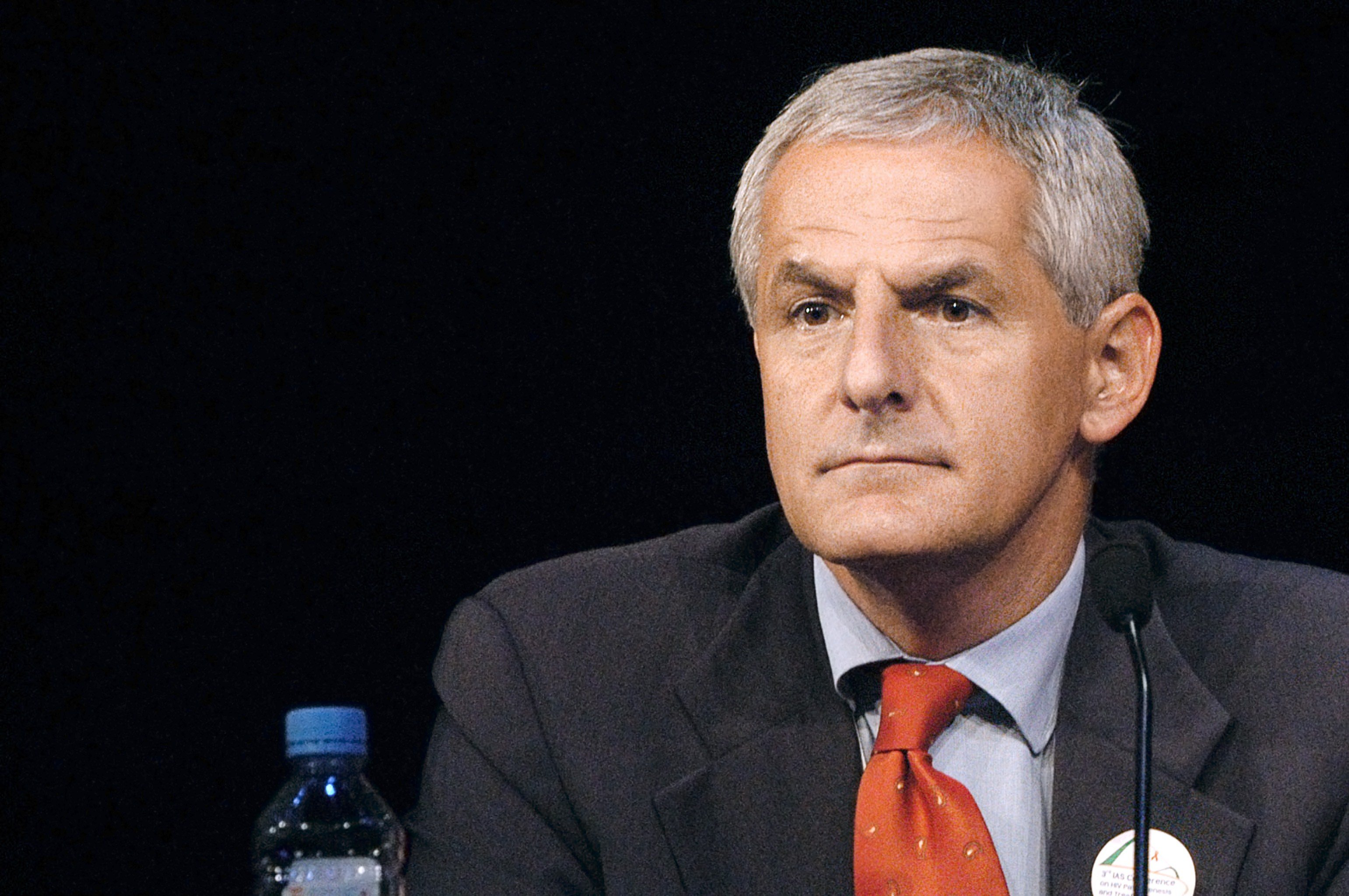 Leading AIDS researcher Joep Lange during a conference on AIDS in Paris on  July 14, 2003 .