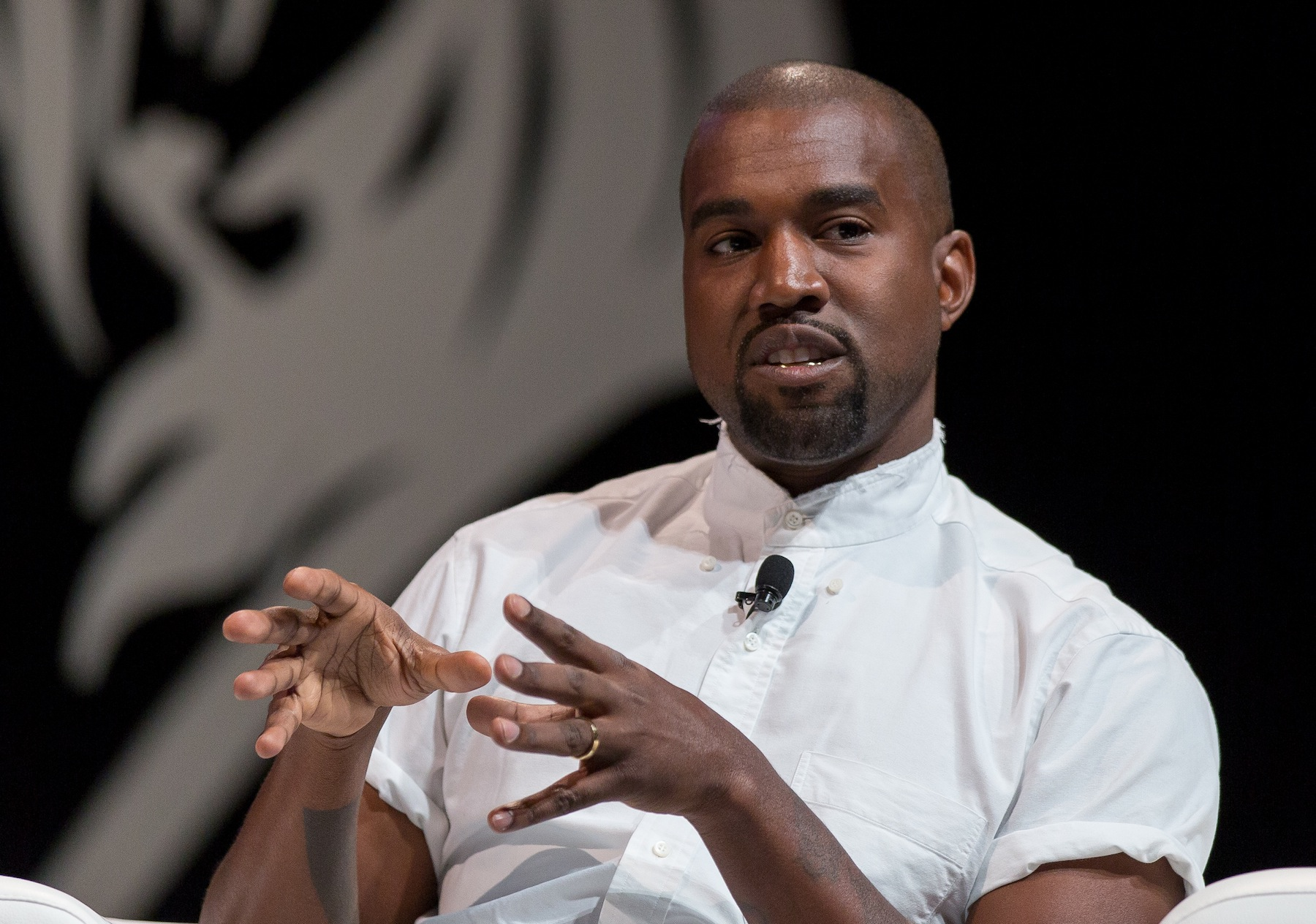Kanye West attends the 2014 Cannes Lions on June 17, 2014, in Cannes, France
