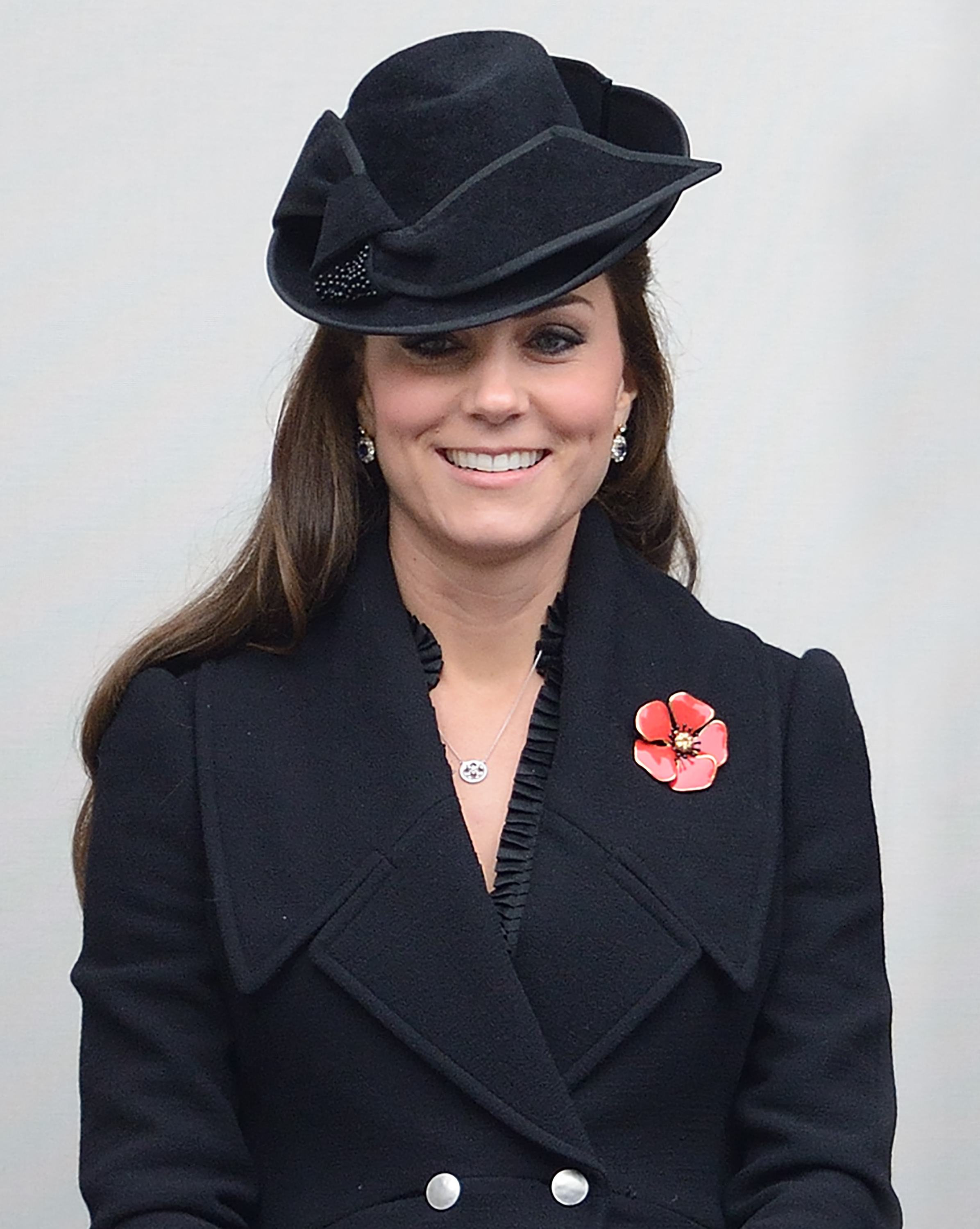 Catherine, Duchess of Cambridge attends The Remembrance Sunday Service at The Cenotaph, London on Nov. 9, 2014.