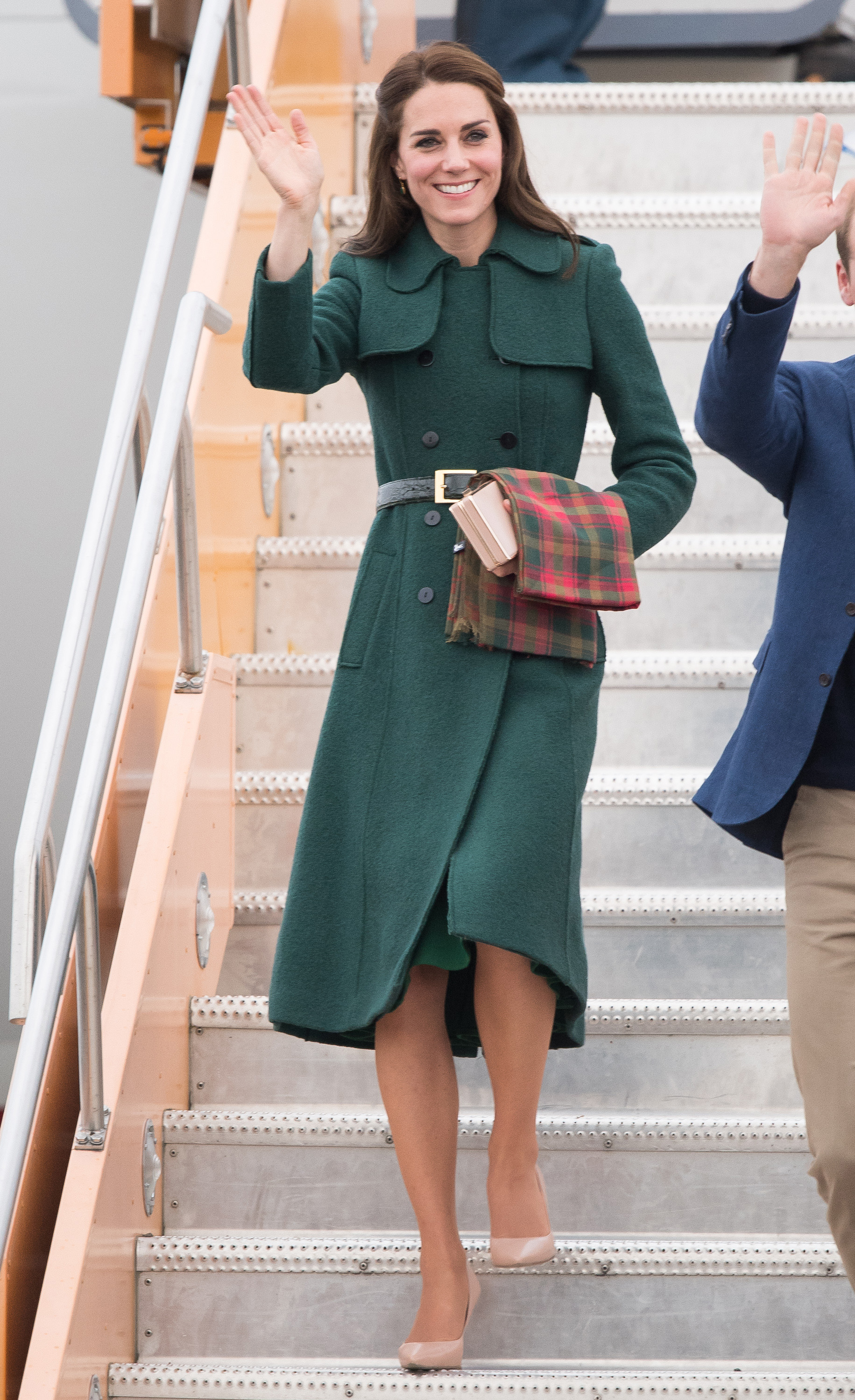 Catherine, Duchess of Cambridge, arrives at Whitehorse Airport in Canada on Sept. 27, 2016.