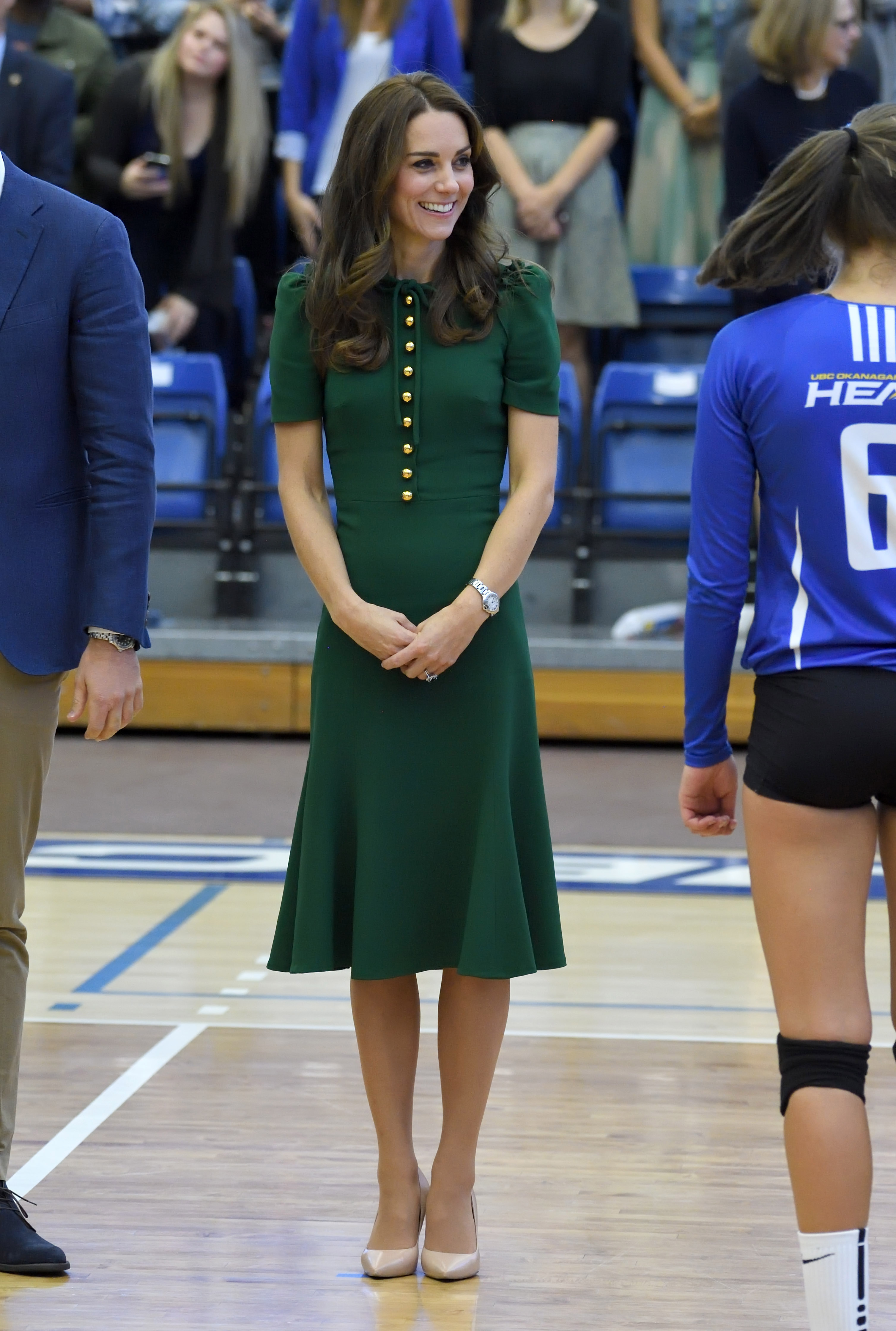 Catherine, Duchess of Cambridge, visits the University of British Columbia in Kelowna, Canada, on Sept. 27, 2016.
