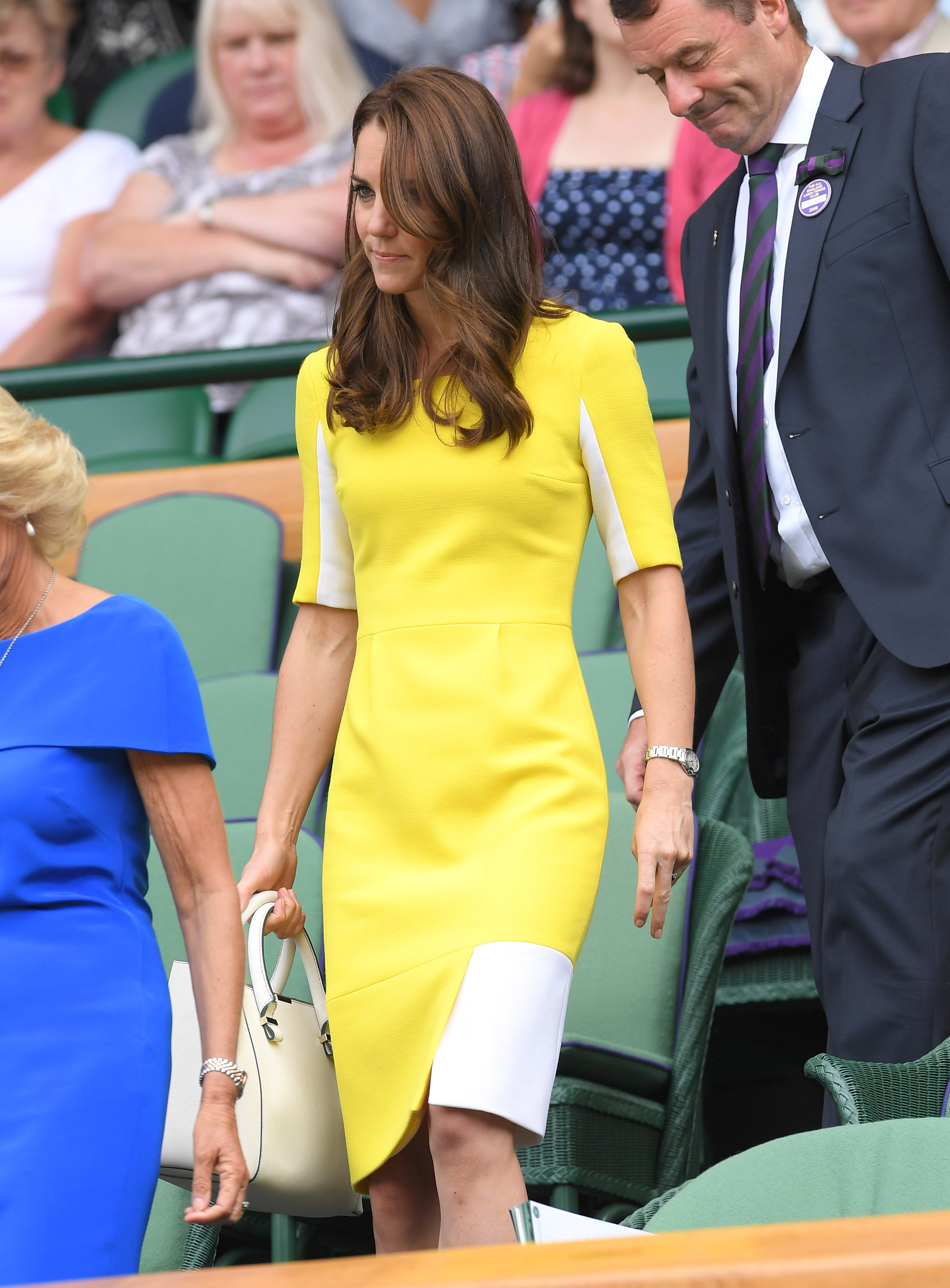 Catherine, Duchess of Cambridge attends day ten of the Wimbledon Tennis Championships at Wimbledon in London on June 27, 2016.