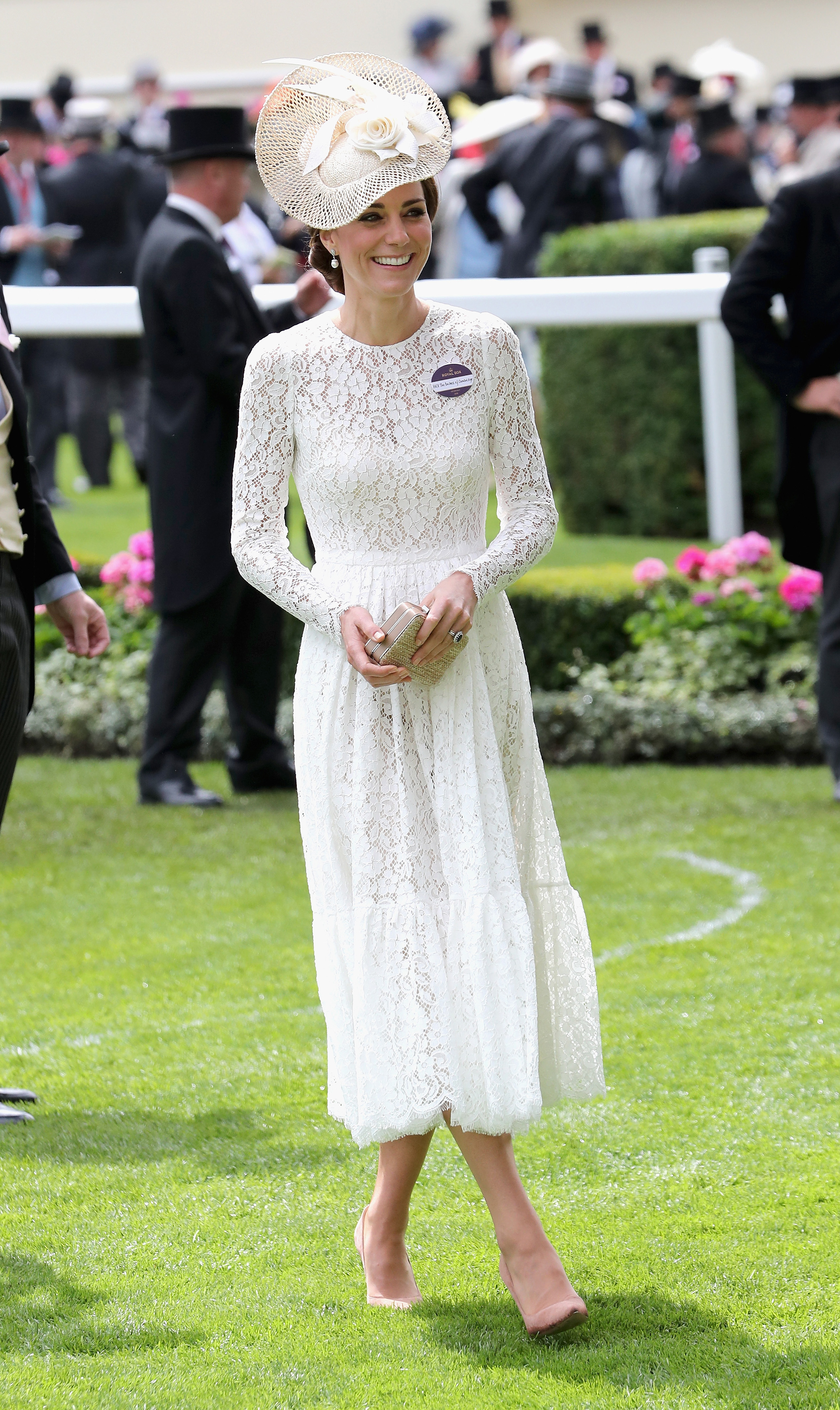 Catherine, Duchess of Cambridge, attends the second day of Royal Ascot at Ascot Racecourse in England on June 15, 2016.