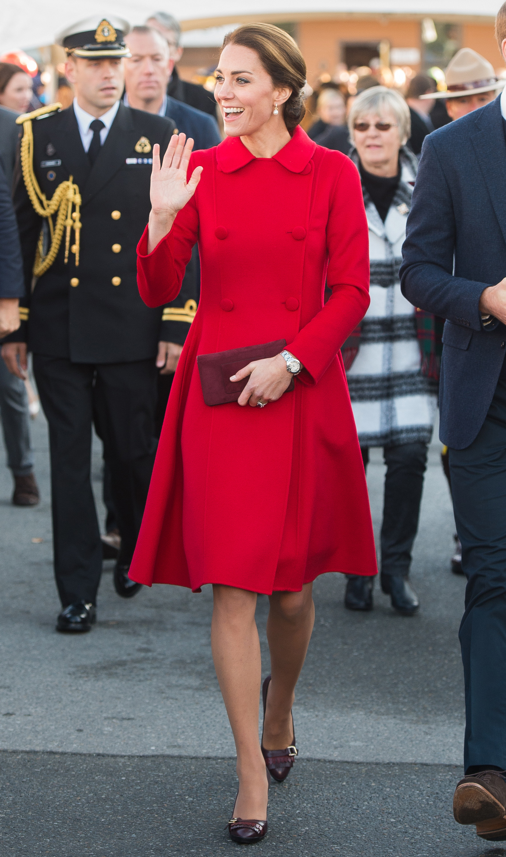 Catherine, Duchess of Cambridge, tours the Main Street Party in Whitehorse, Canada, on Sept. 28, 2016.