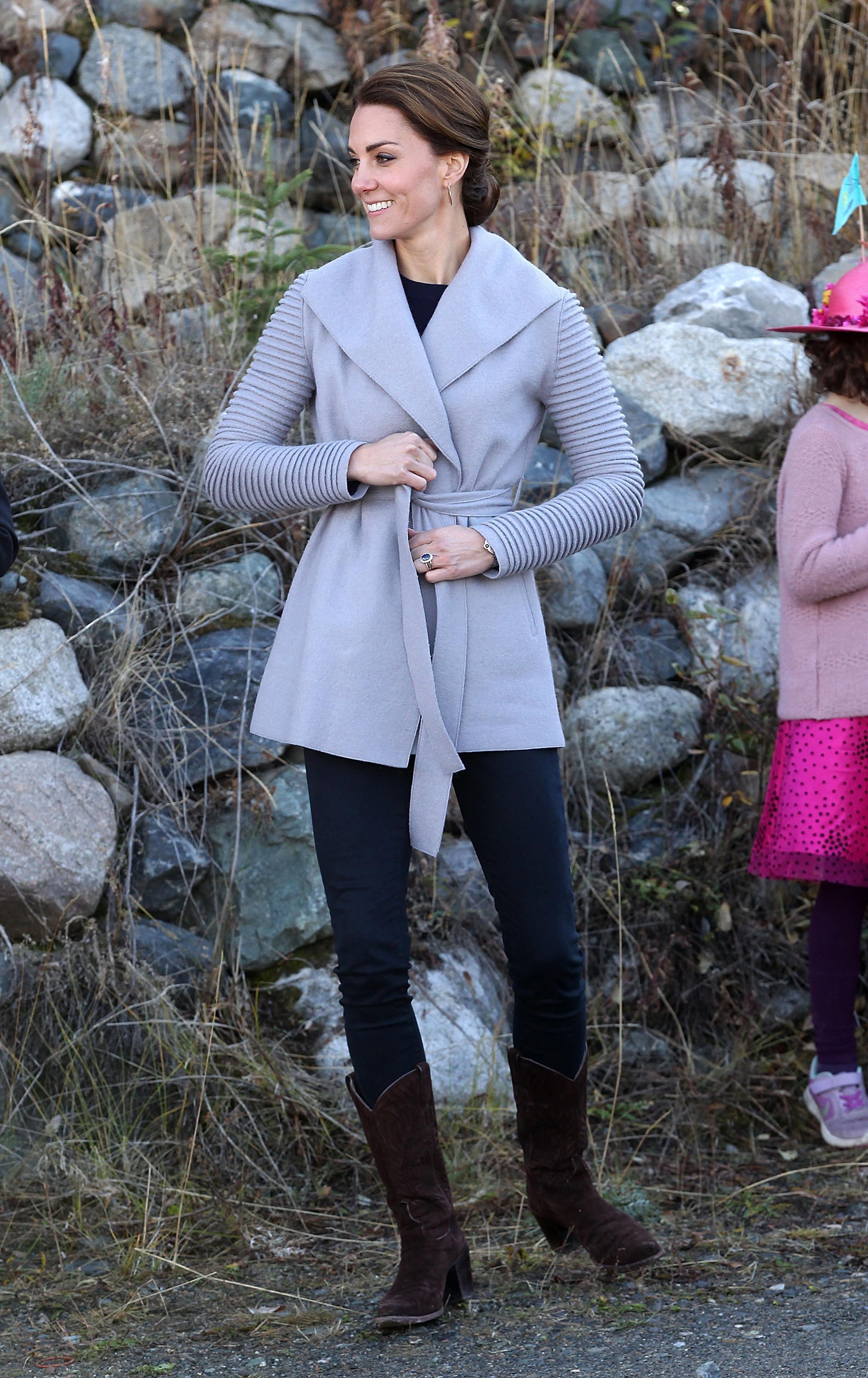 Catherine, Duchess of Cambridge, visits Carcross during the Royal Tour of Canada on Sept. 28, 2016.