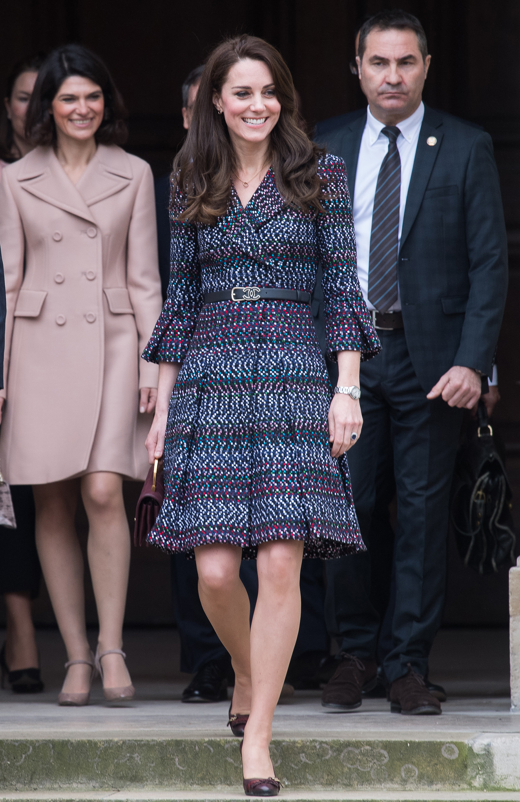 Catherine, Duchess of Cambridge, visits the Invalides during a two-day trip to Paris on March 18, 2017.