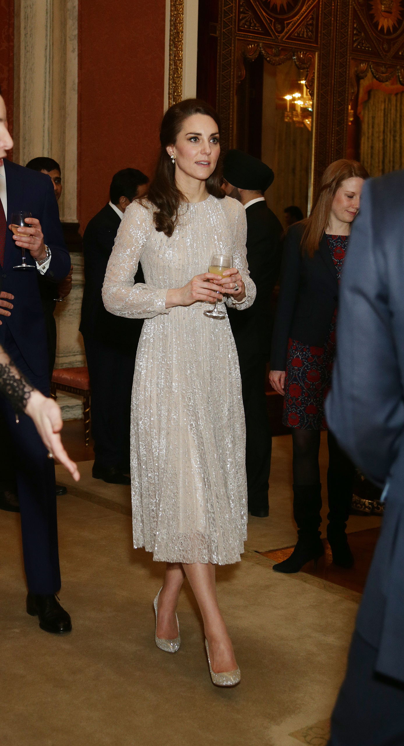 Catherine, Duchess of Cambridge, attends a reception to mark the launch of the U.K.-India Year of Culture 2017 in London on Feb. 27, 2017.