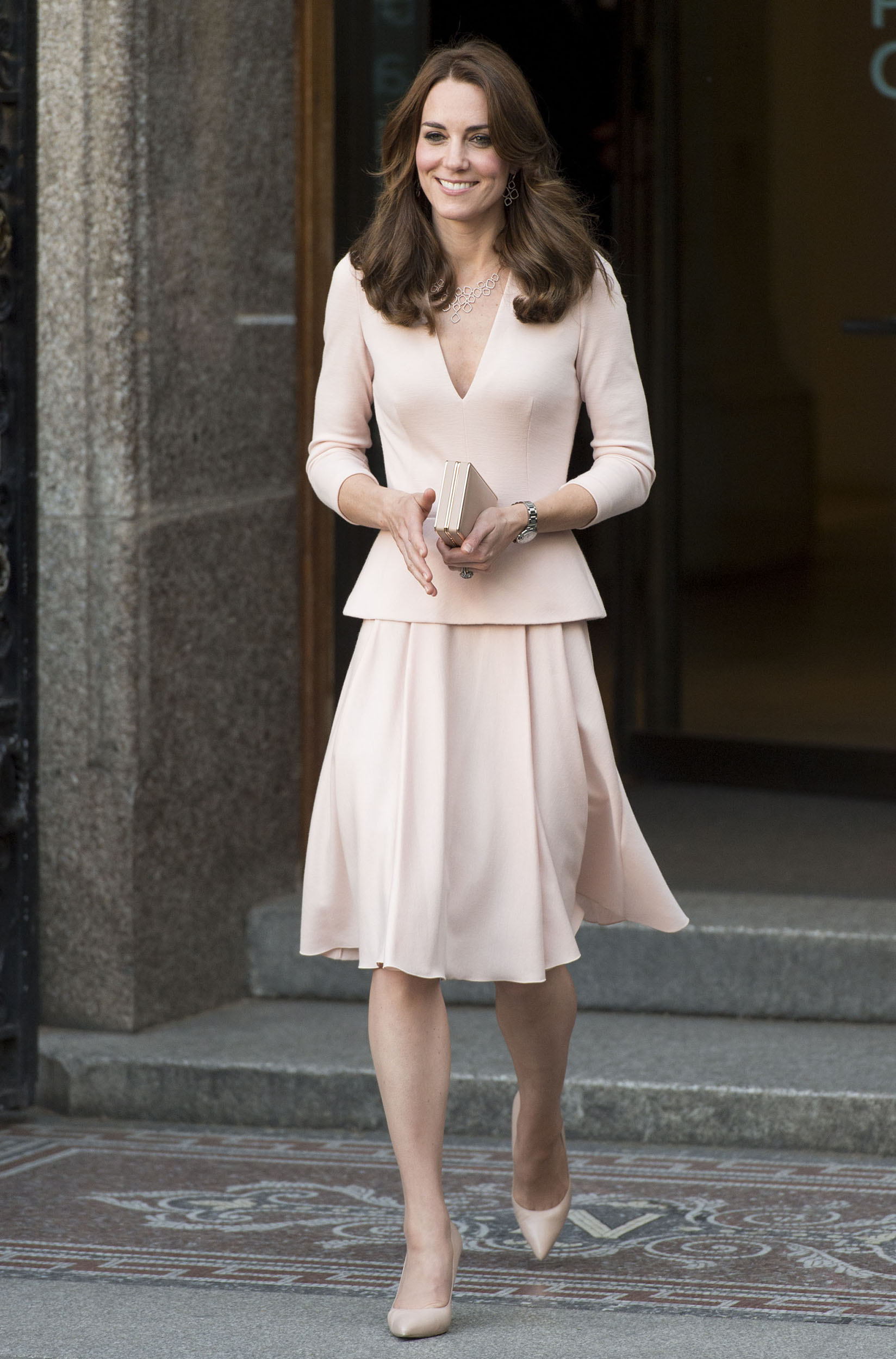 "Catherine, Duchess of Cambridge visits the ""Vogue 100: A Century Of Style"" exhibition at National Portrait Gallery in London on May 4, 2016."