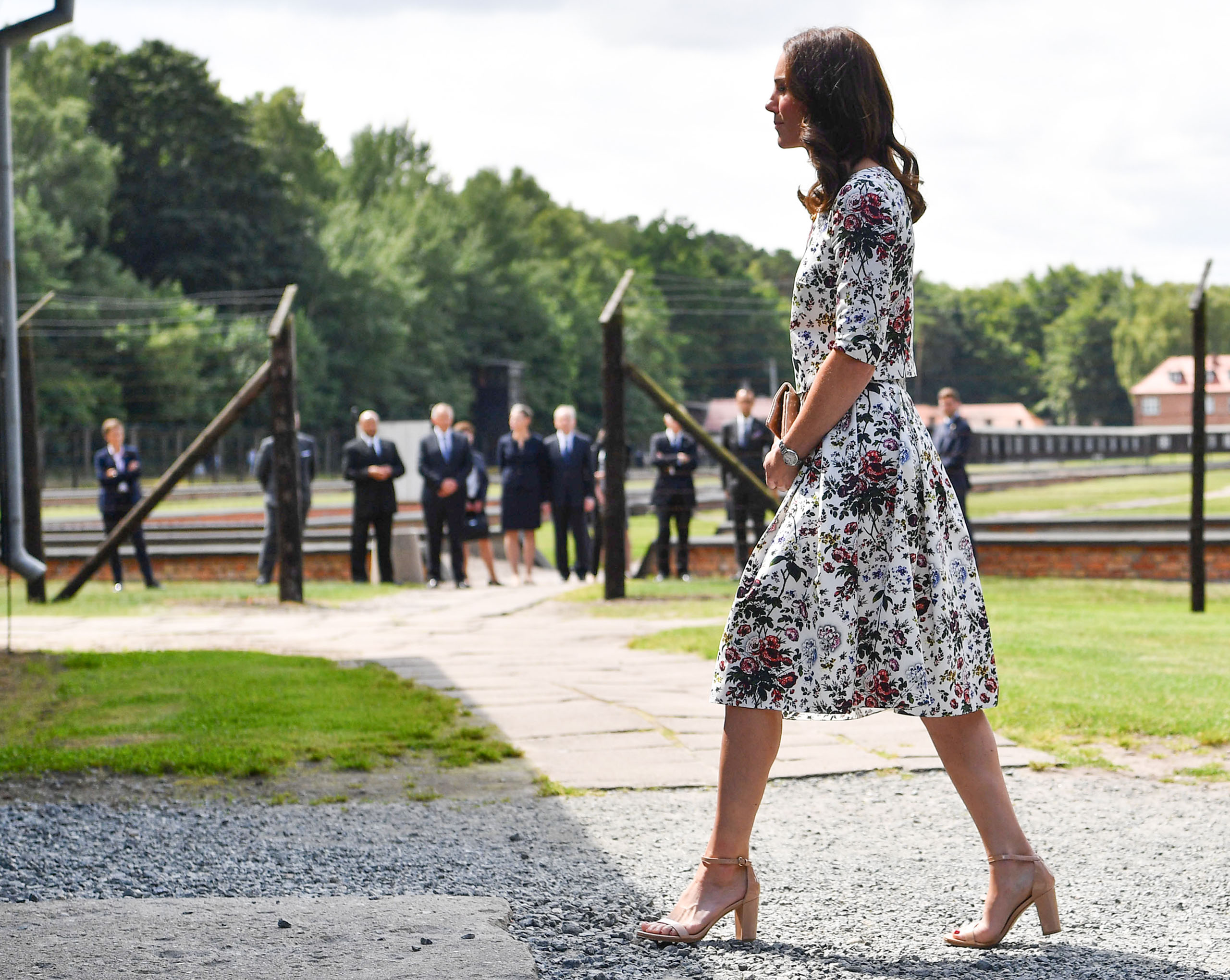 Catherine, Duchess of Cambridge visits Stutthof, the former Nazi Germany Concentration Camp during day 2 of their Royal Tour of Poland and Germany on July 18, 2017.