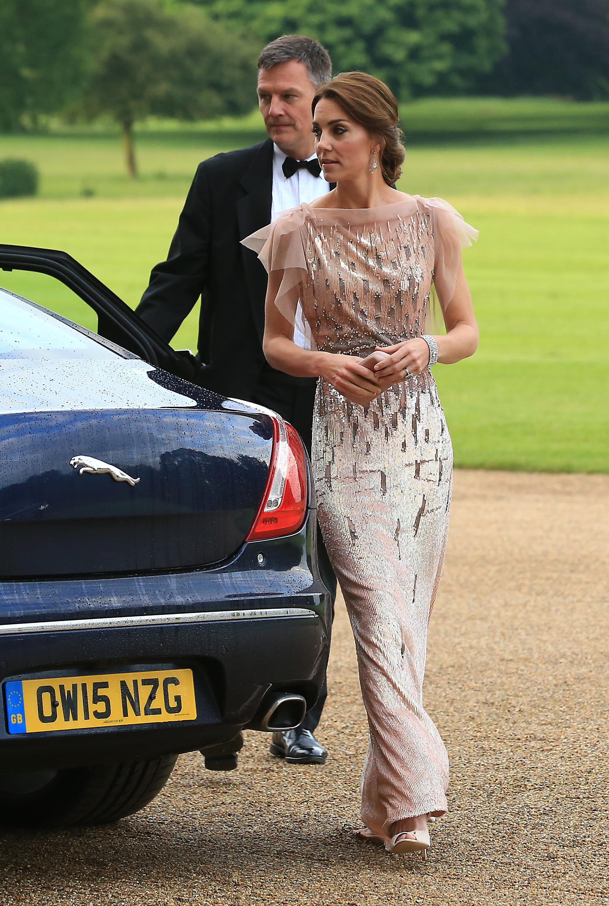 Catherine, Duchess of Cambridge, attends a gala dinner in support of East Anglia's Children's Hospices' nook appeal at Houghton Hall in King's Lynn, England, on June 22, 2016.