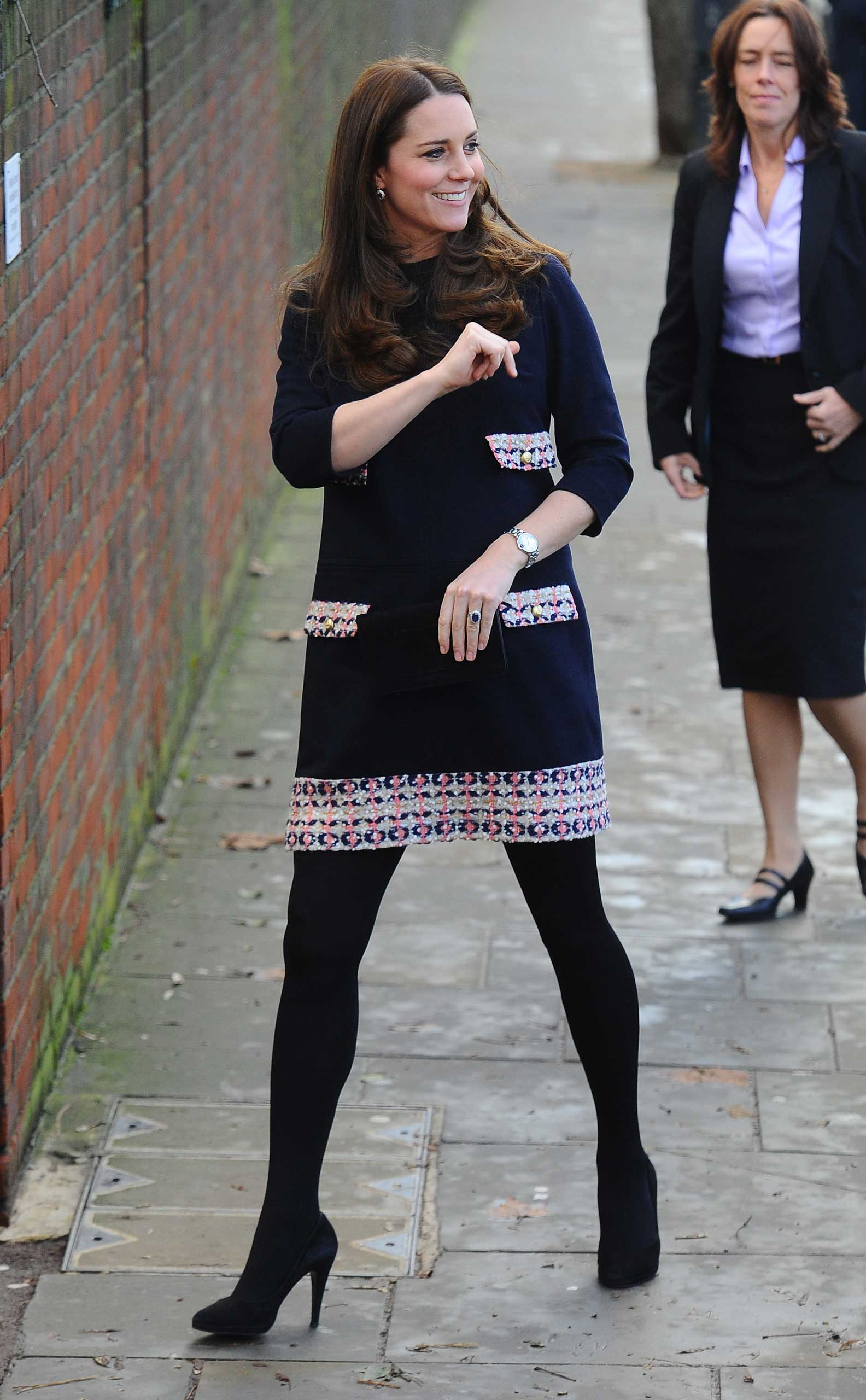 Catherine, Duchess of Cambridge seen arriving at the Barbly Primary School in West London on Jan. 15, 2014.