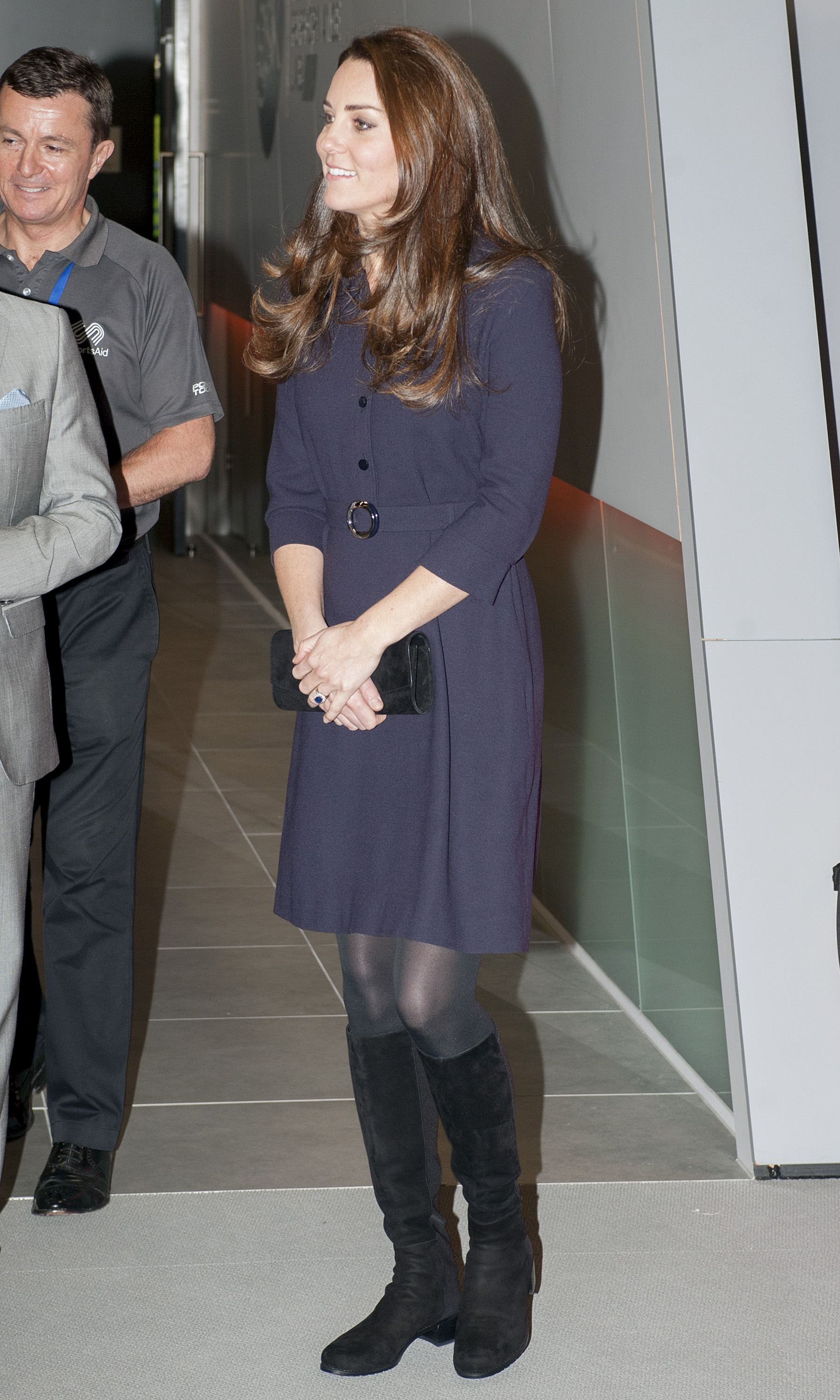 Catherine, Duchess of Cambridge meets young Athletes at a SportsAid workshop at the GSK Human Performance Laboratory in London on Nov. 12, 2014.