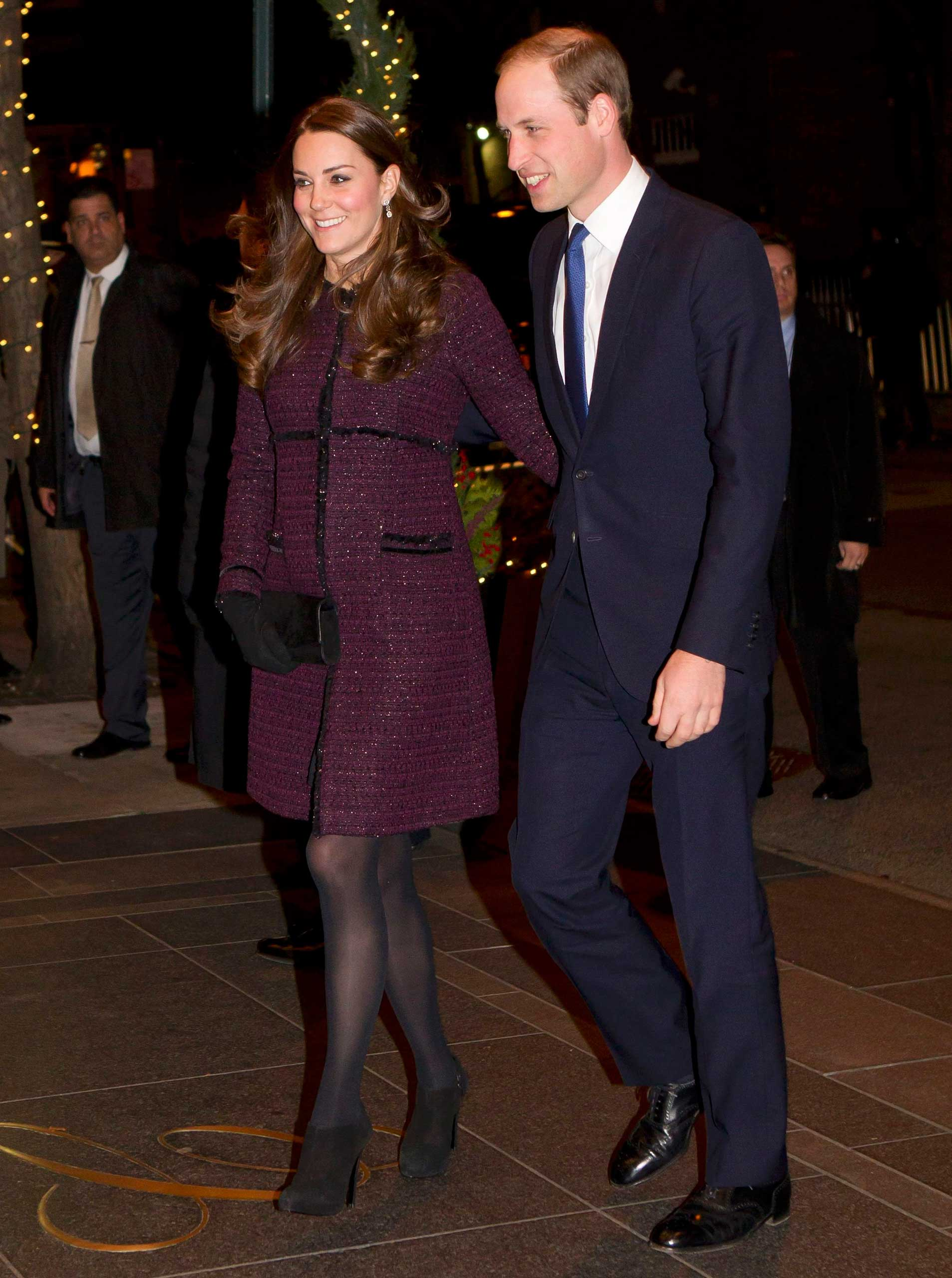 Catherine, Duchess of Cambridge arrives at the Carlyle hotel in New York on Dec. 7, 2014.