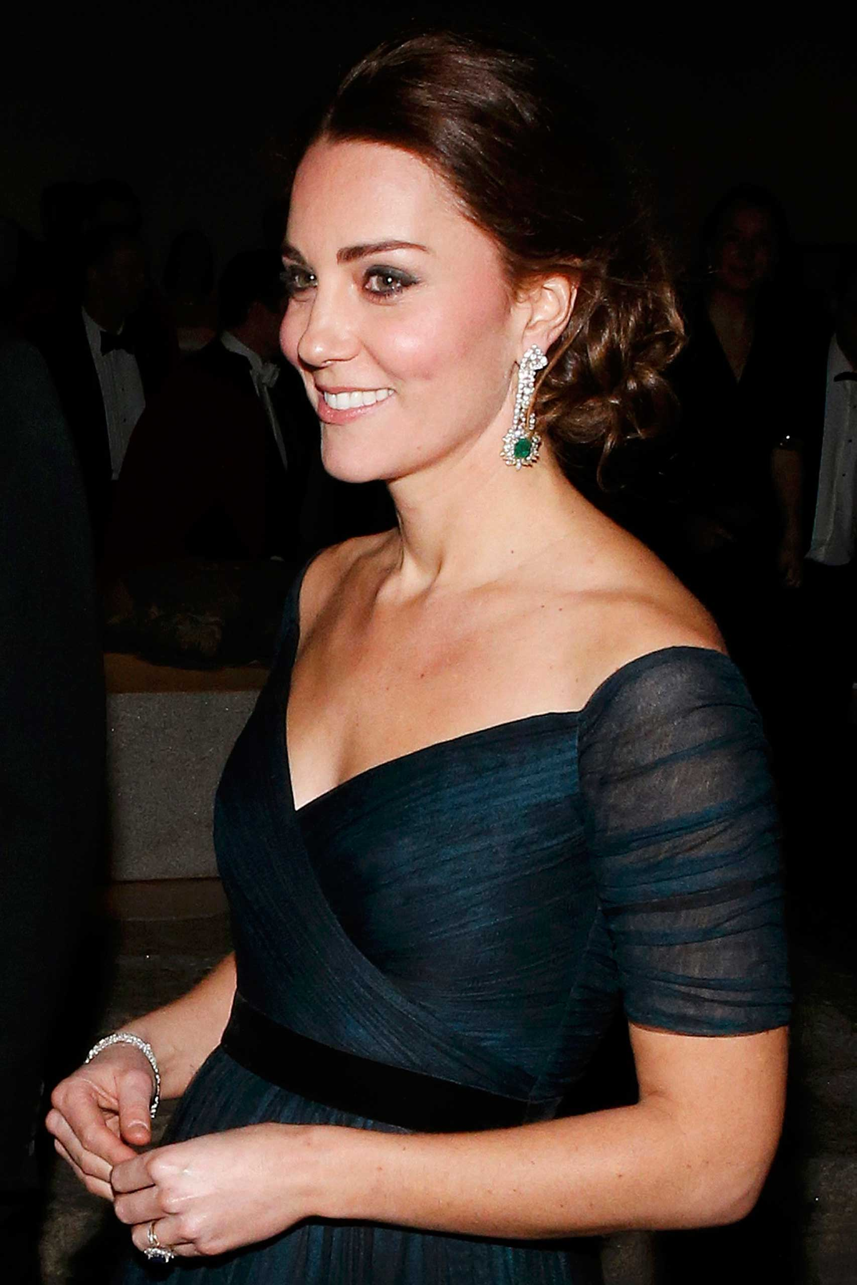 Catherine, Duchess of Cambridge arrives at the St. Andrews 600th Anniversary Dinner at The Metropolitan Museum of Art in New York on Dec. 9, 2014.