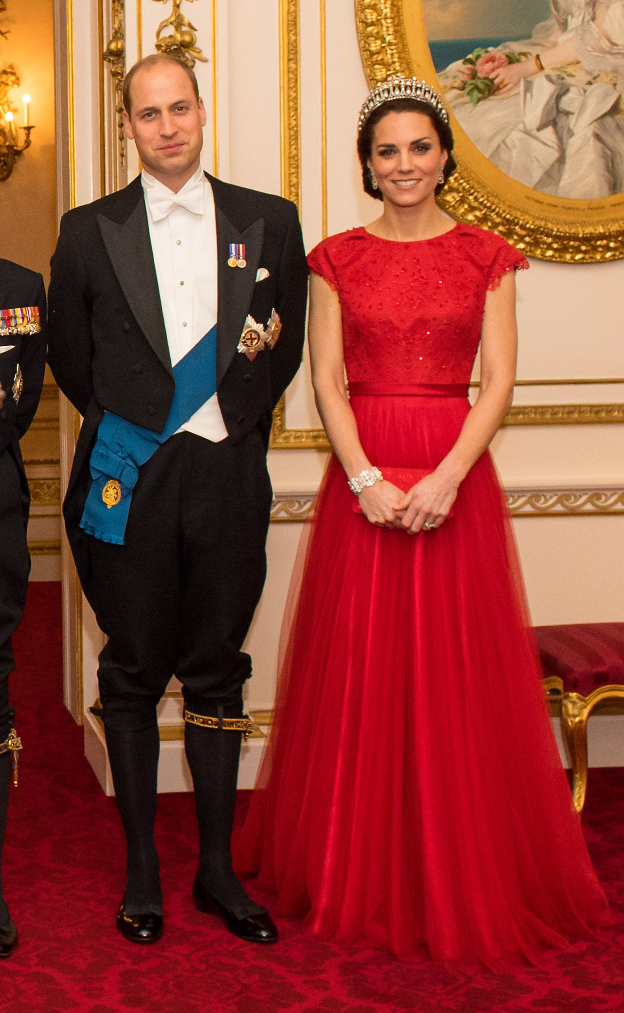 The Duke and Duchess of Cambridge arrive for the annual evening reception for members of the Diplomatic Corps at Buckingham Palace, London, on Dec. 8, 2016.