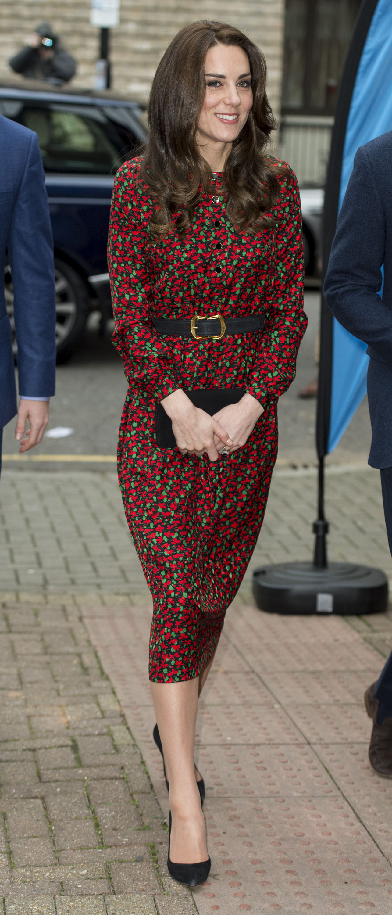 Catherine, Duchess of Cambridge attends a Christmas party for volunteers at The Mix youth service in London, on Dec. 19, 2016.