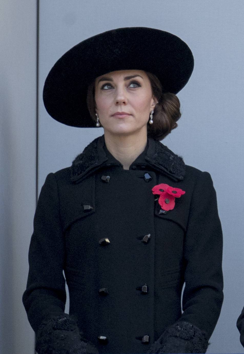 Catherine, Duchess of Cambridge attends the nations remembrance service at the Cenotaph memorial in central London, on Nov. 13, 2016.