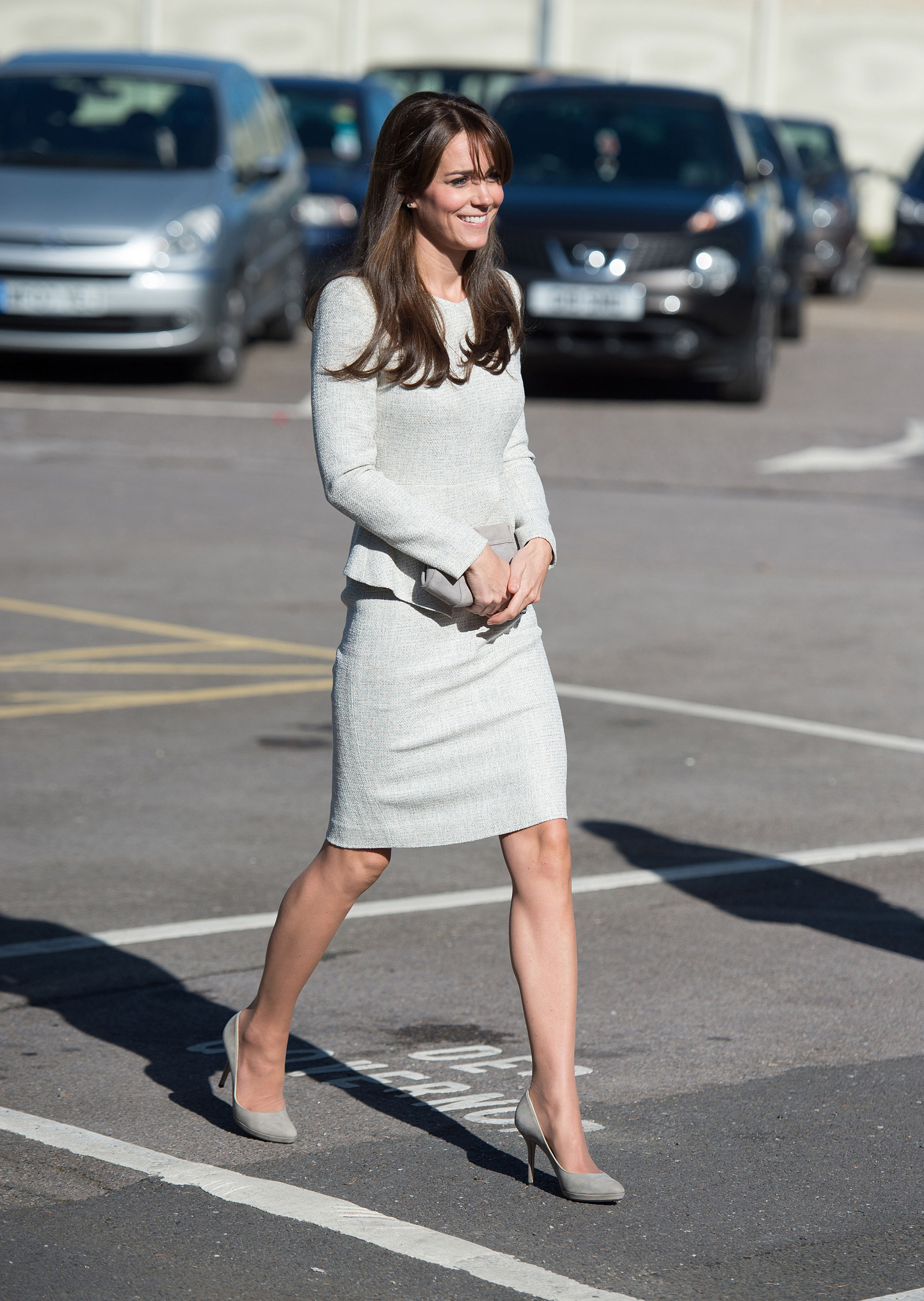 Catherine,  Duchess of Cambridge arrives for a visit to the Rehabilitation of Addicted Prisoners Trust at HMP Send on Sept. 25, 2015 in Woking, United Kingdom.