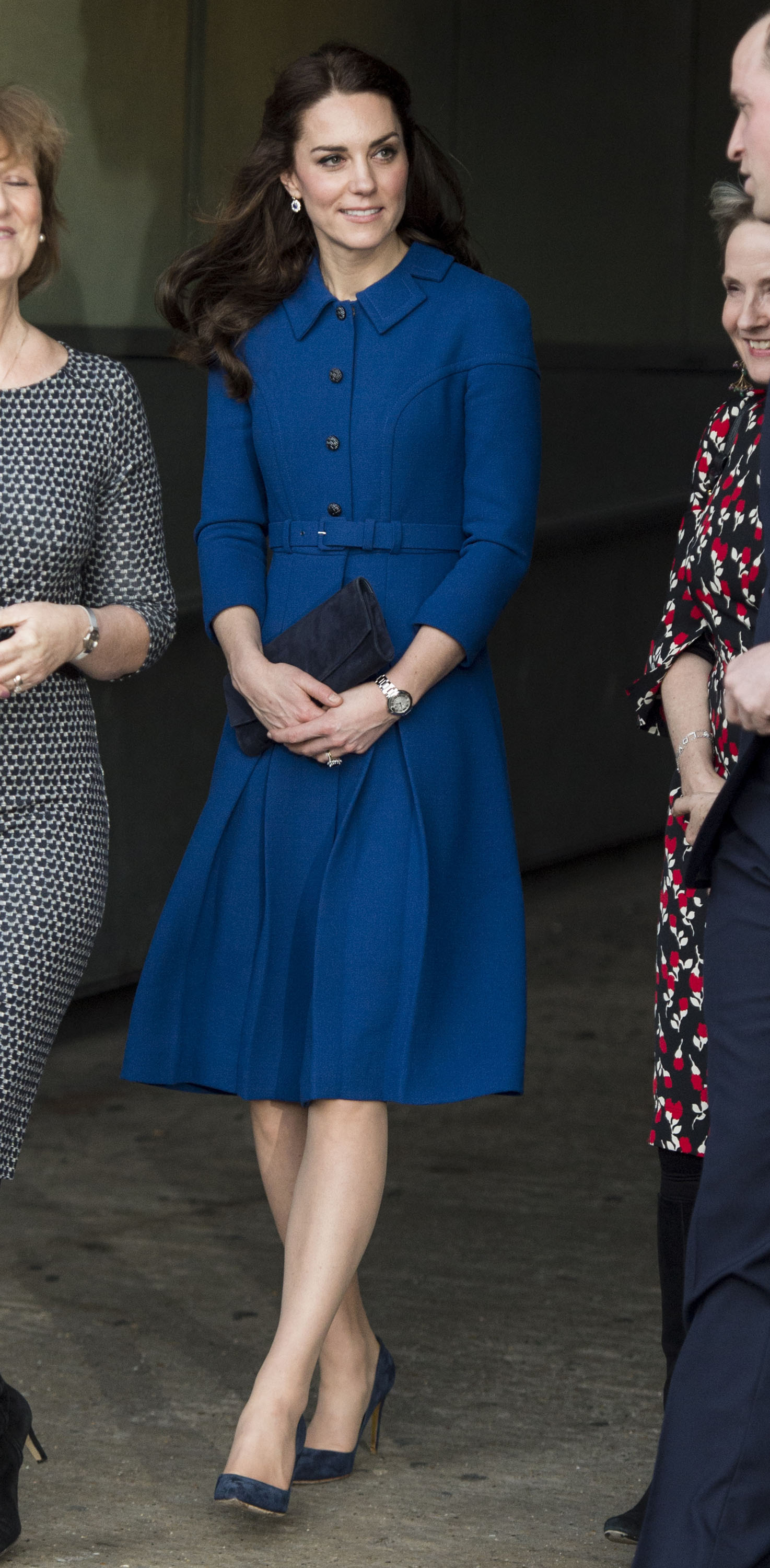Catherine, Duchess of Cambridge leaves after a visit to the CBUK Stratford in London, England on Jan. 11, 2017.