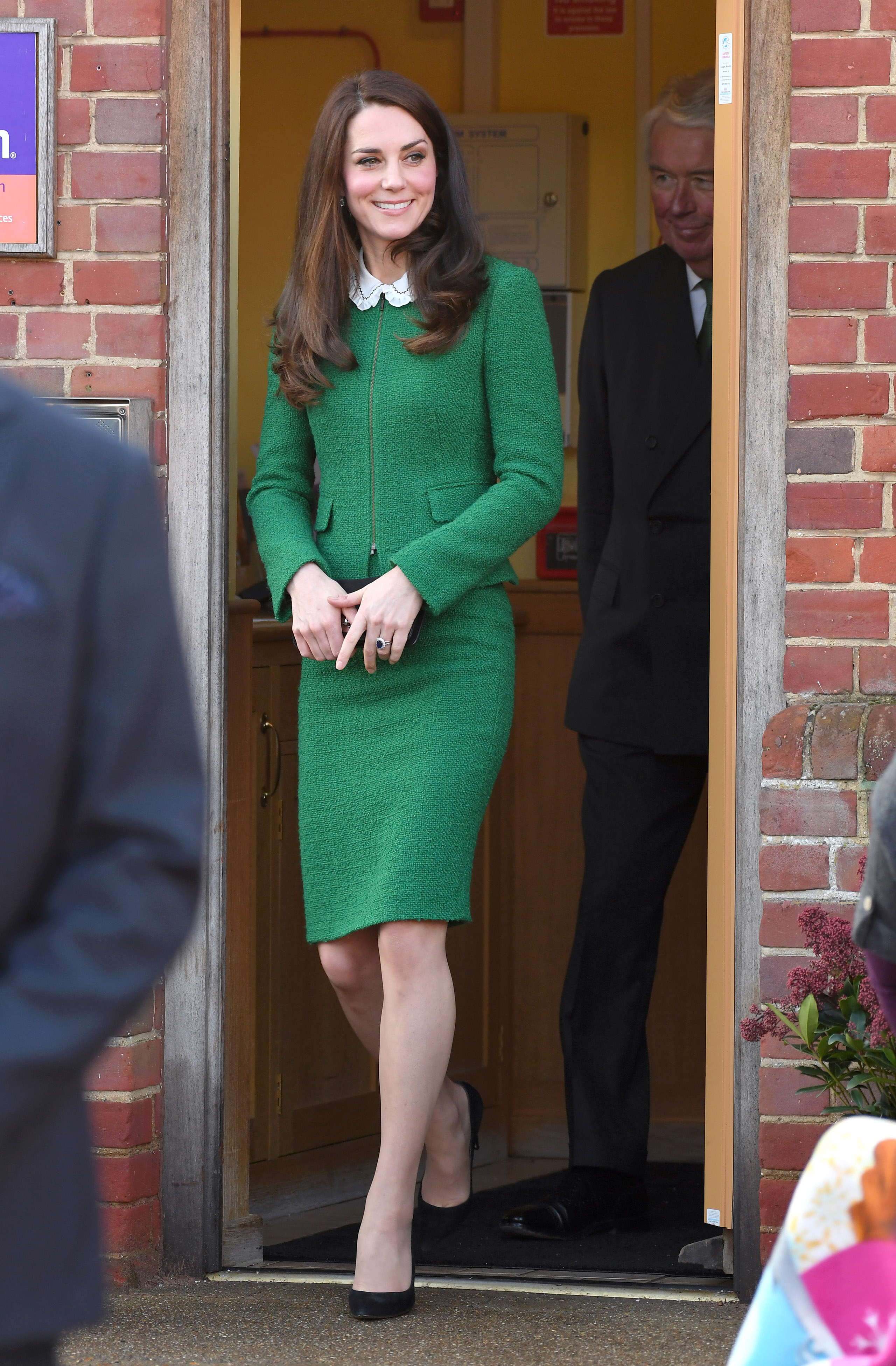Catherine, Duchess of Cambridge departs after visiting the East Anglia's Children's Hospices in Quidenham, Norfolk, on Jan. 24, 2017.