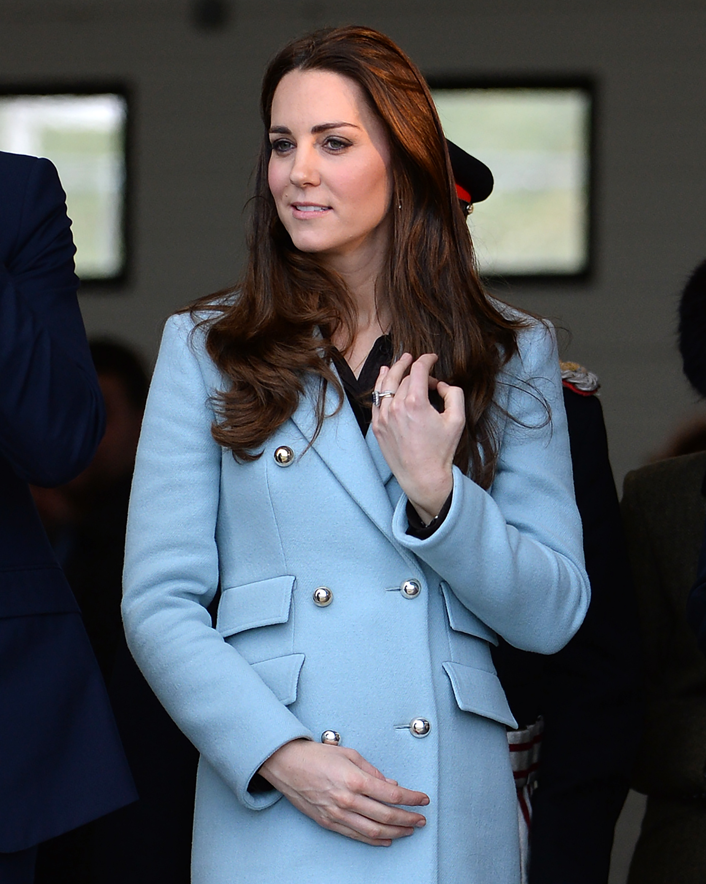 Catherine, Duchess of Cambridge visit the Valero Pembroke Refinery in Dyfed, Wales, on Nov. 8, 2014.