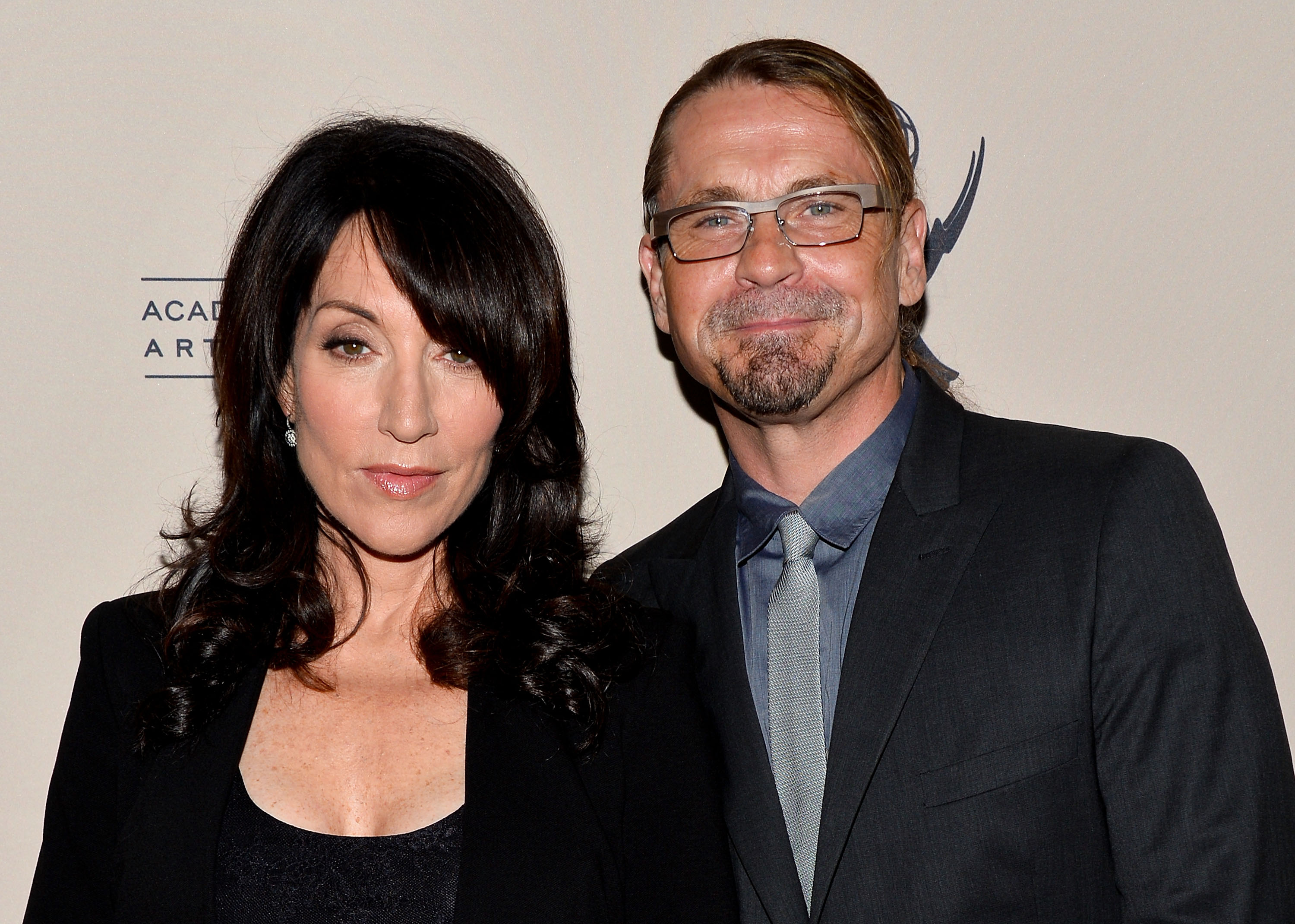 Actress Katey Sagal and Sons of Anarchy series creator Kurt Sutter.
