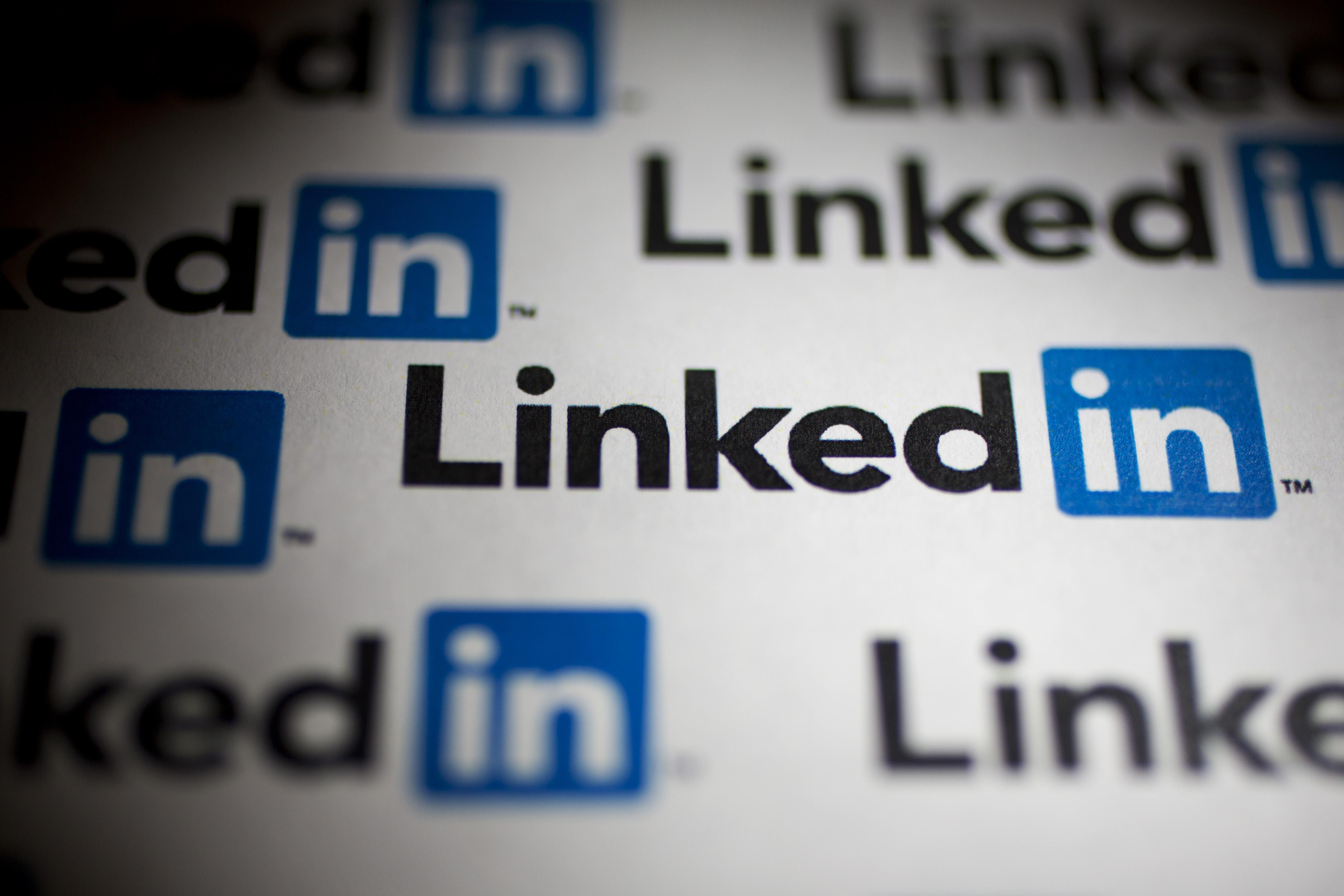 LinkedIn logos.