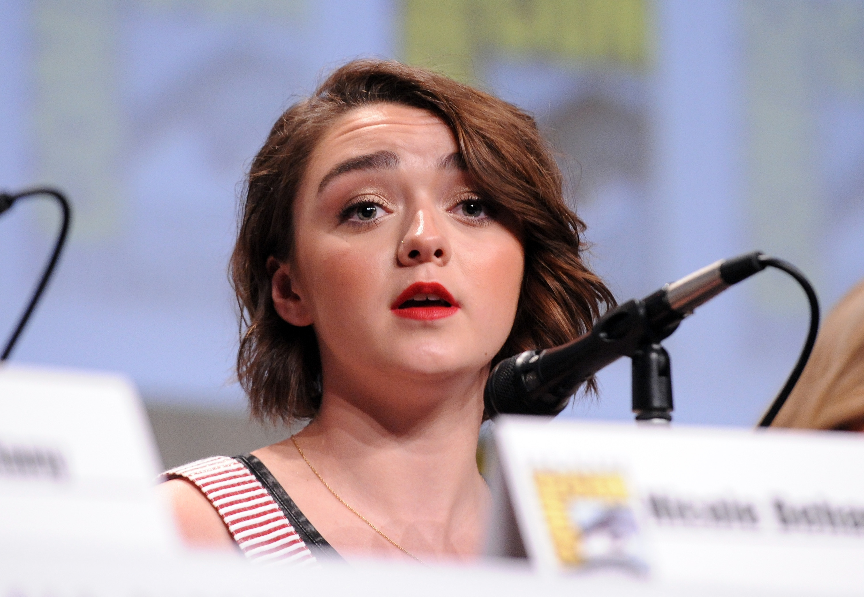 Maisie Williams attends the Entertainment Weekly: Women Who Kick Ass panel and presentation and presentation during Comic-Con International 2014 on July 26 in San Diego, California.