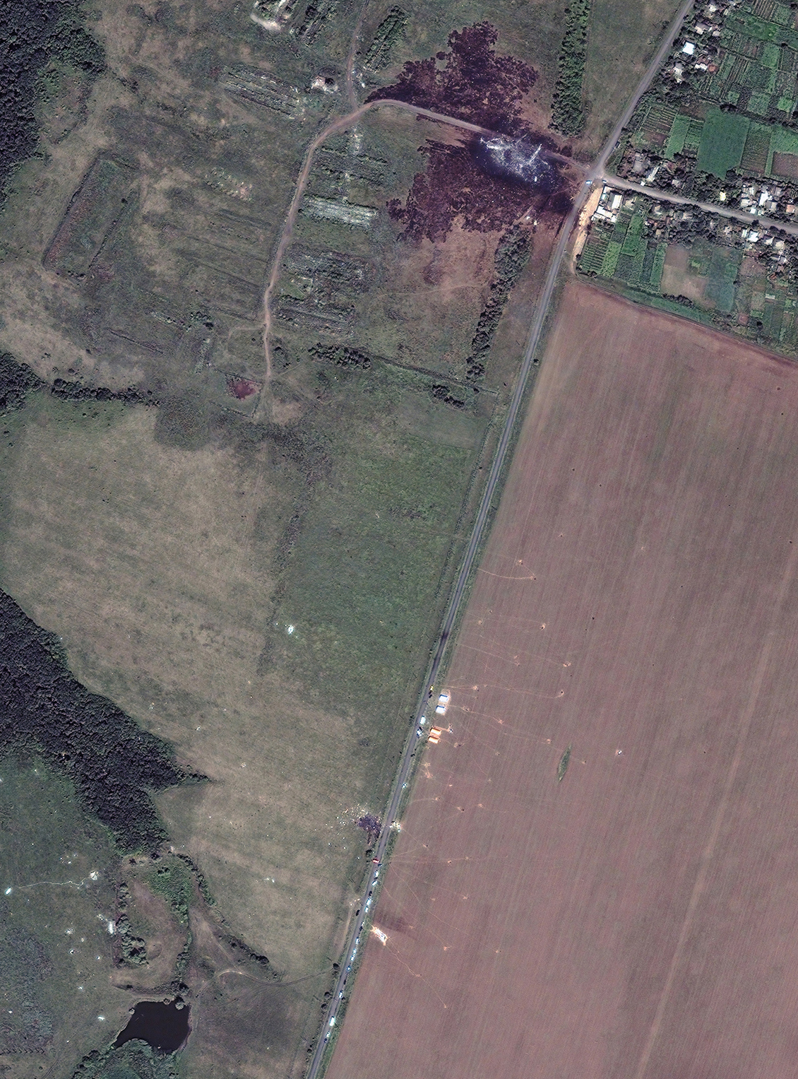 Malaysia Airlines Flight 17 crash site in eastern Ukraine, July 20, 2014.
