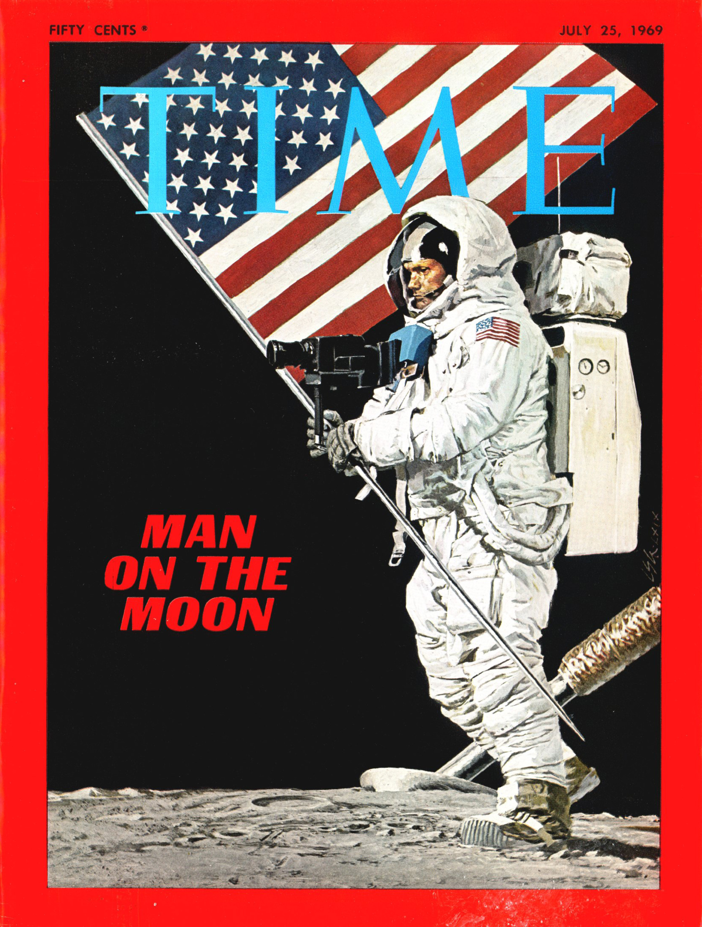 The cover of Time Magazine on July 25, 1969