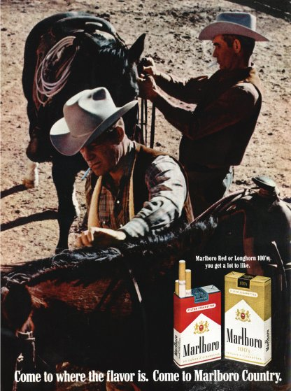 Marlboro's advertisement in the July 25, 1969 edition of Time Magazine.