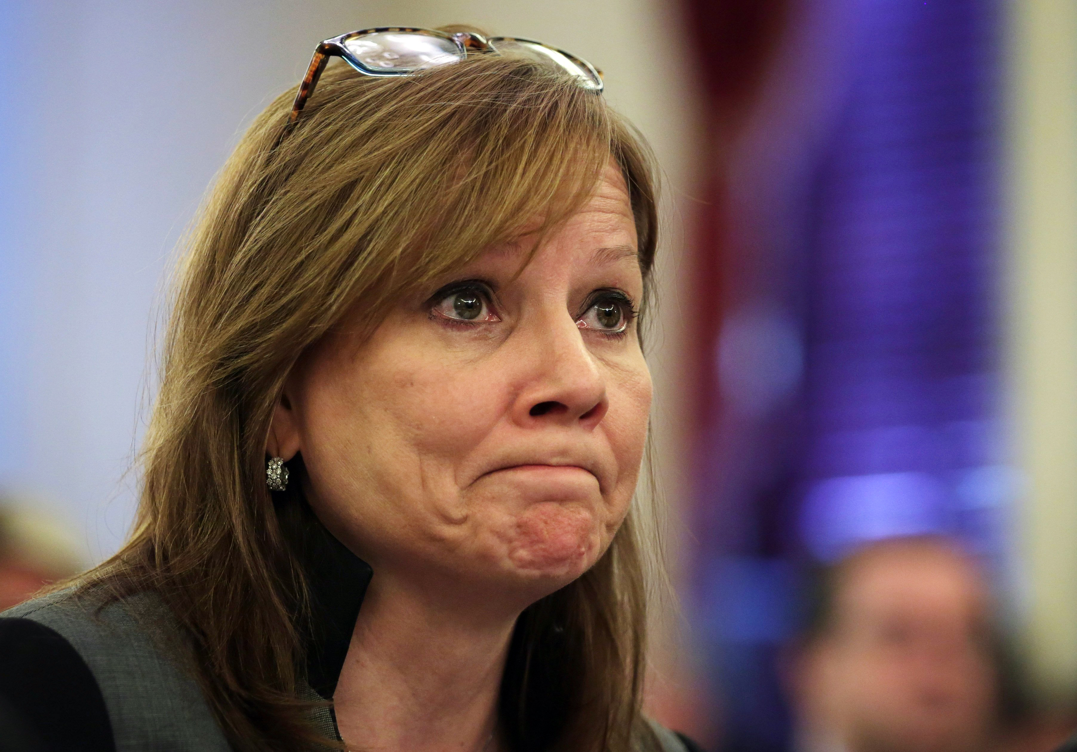 CEO of the General Motors Company Mary Barra testifies during a hearing before the Consumer Protection, Product Safety, and Insurance Subcommittee of the Senate Commerce, Science and Transportation Committee on July 17, 2014 on Capitol Hill in Washington.
