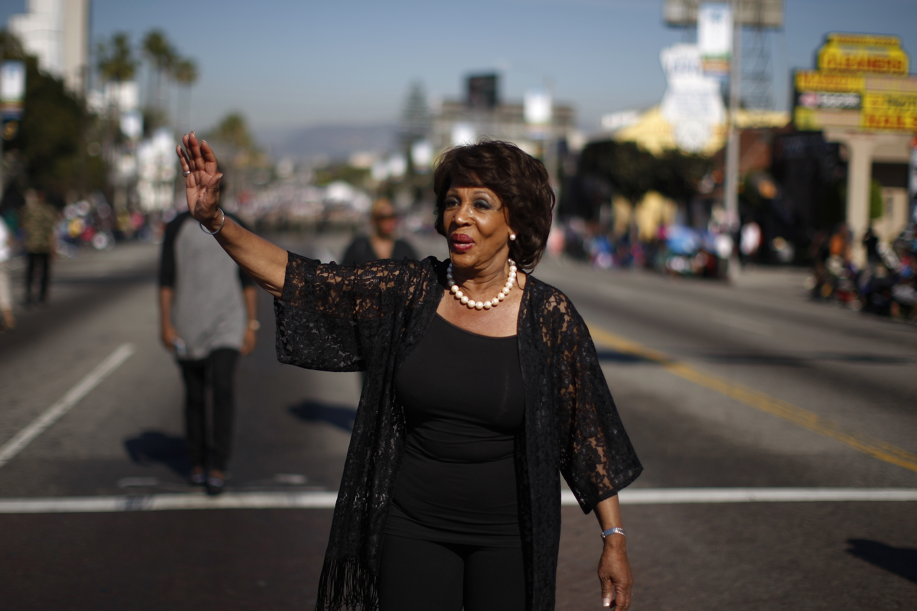U.S. Rep. Maxine Waters (D-CA) marches in the 29th annual Kingdom Day Parade on January 20, 2014 in Los Angeles, California.