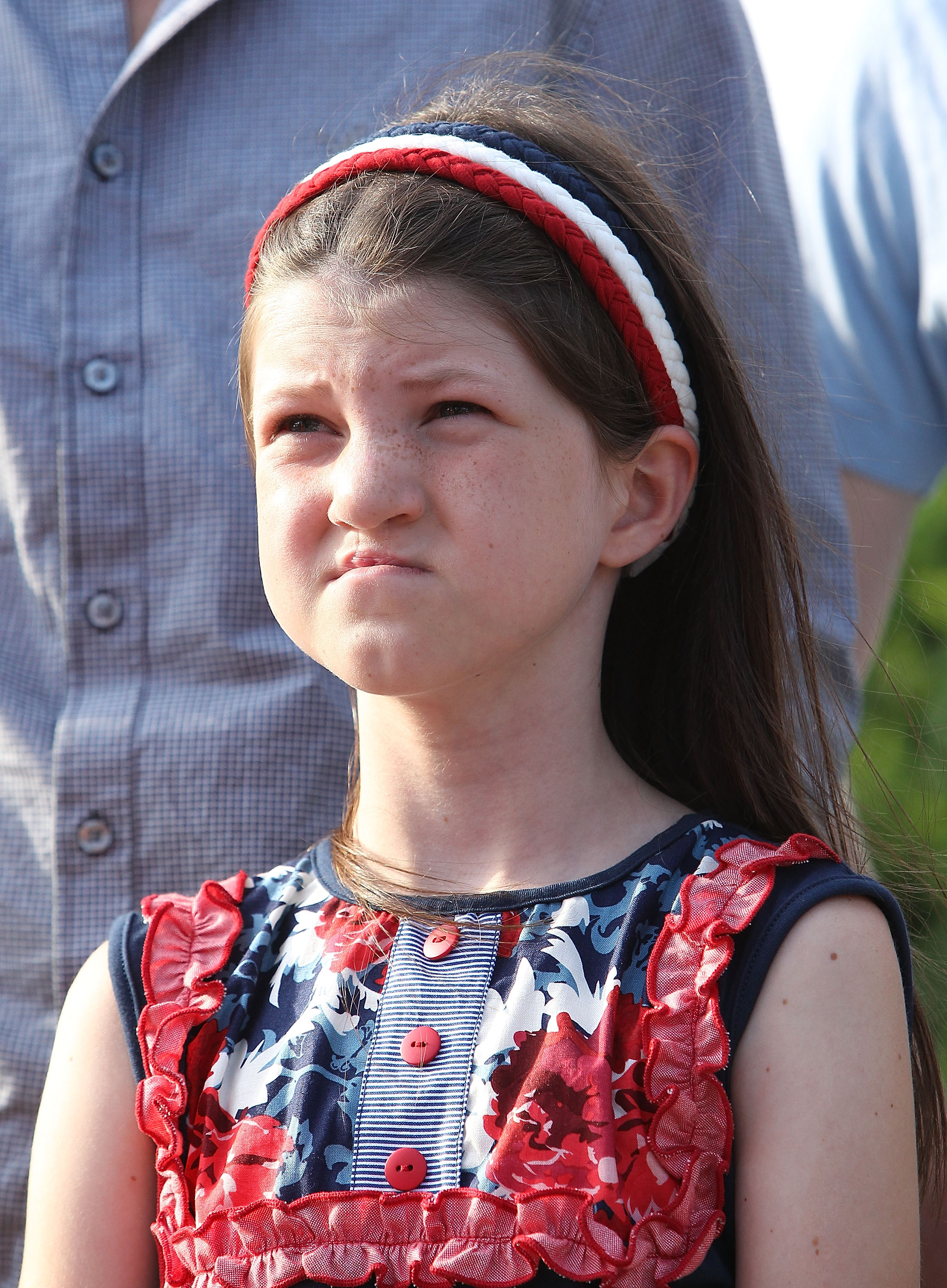 Duck Dynasty's Mia Robertson attends a press conference to raise awareness of cleft lip and palate treatments on July 8, 2014 at the U.S. Capitol Building in Washington.