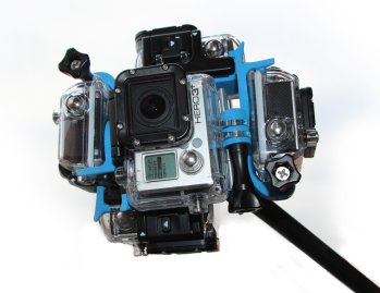 360Hero's forthcoming quick assembly scuba gear, with GoPro housing both the Hero3 and Hero3 Plus sytems