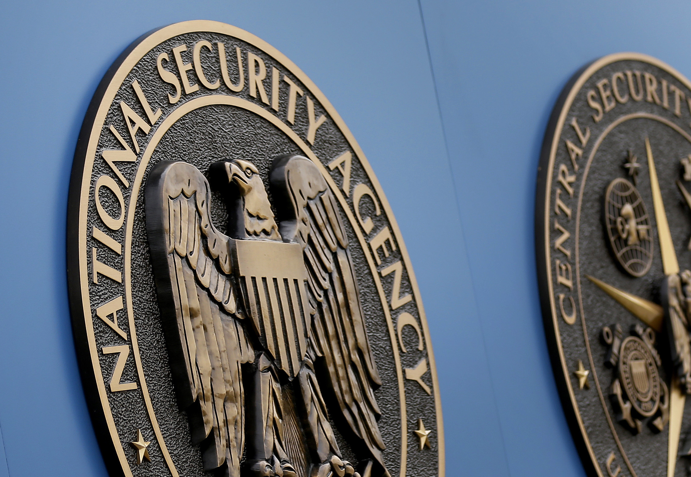 This Thursday, June 6, 2013, file photo, shows a sign outside the National Security Agency campus in Fort Meade, Md.
