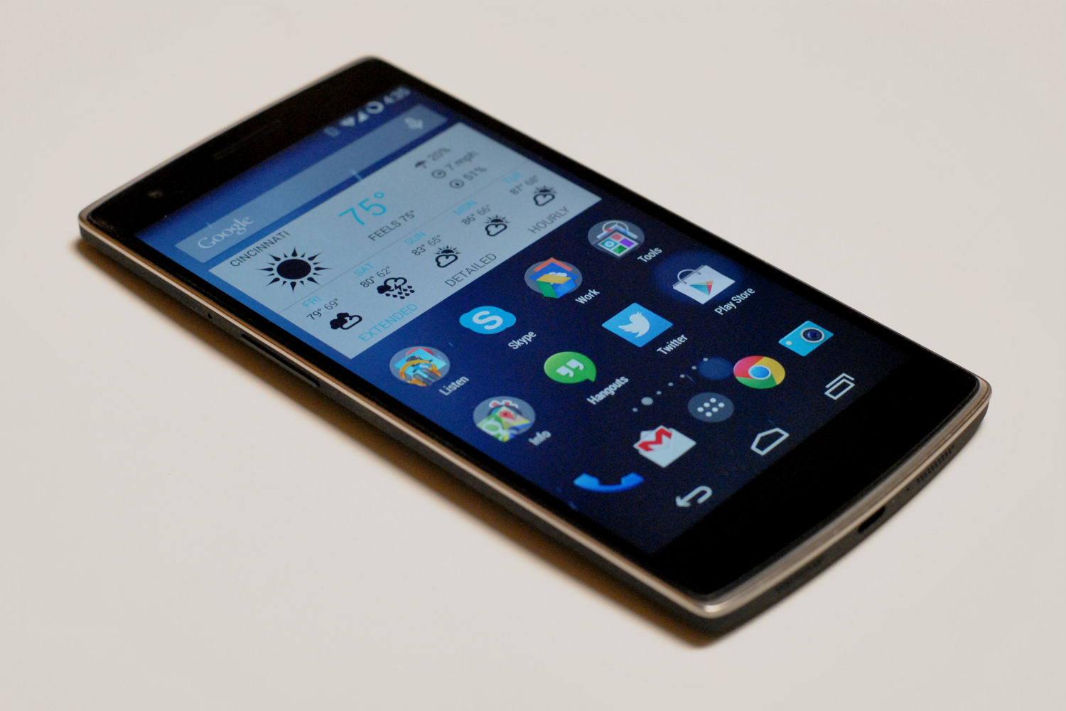 The OnePlus One smartphone features a 5.5-inch screen